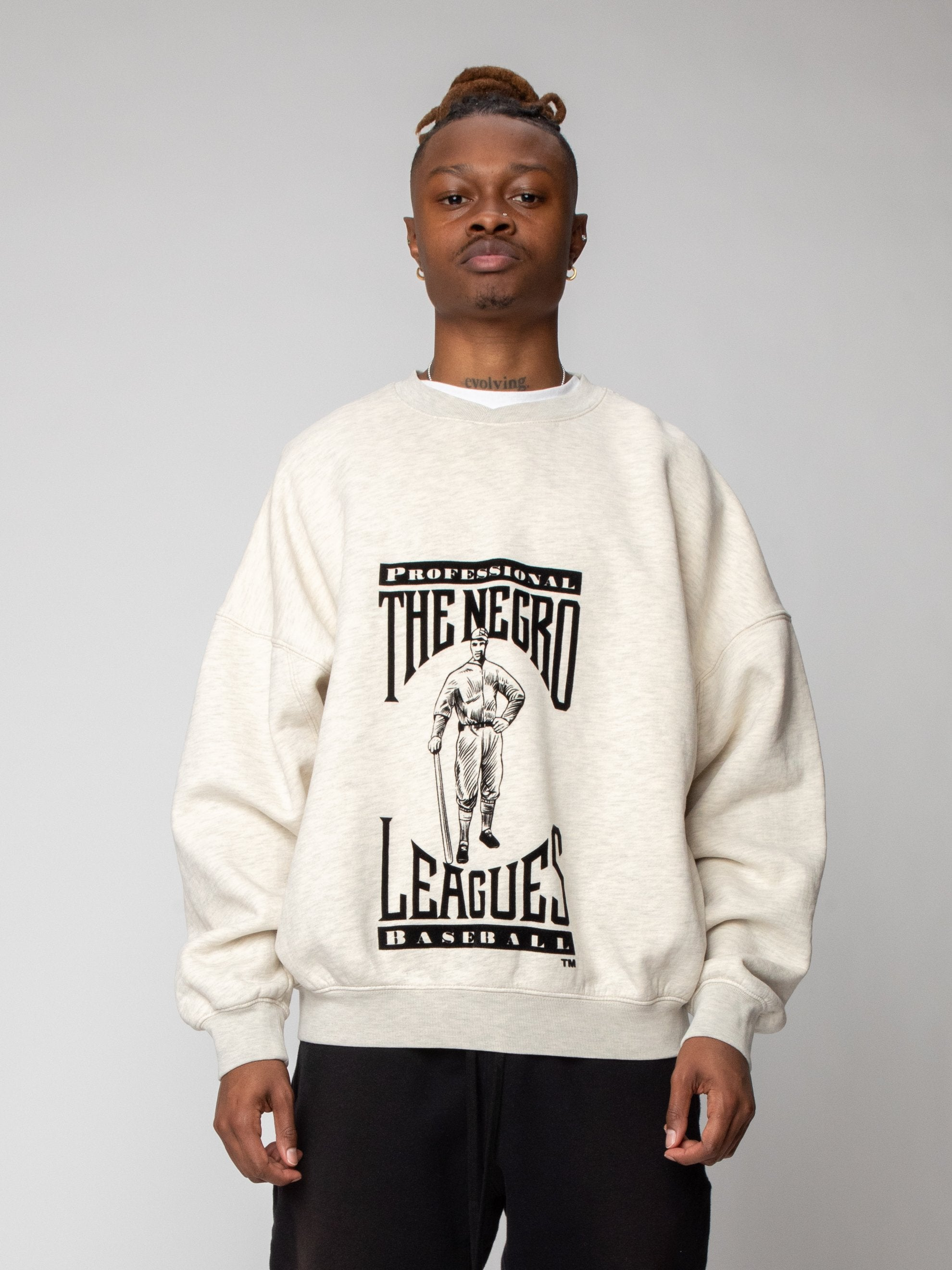 Cream Heather Negro League Sweatshirt 2
