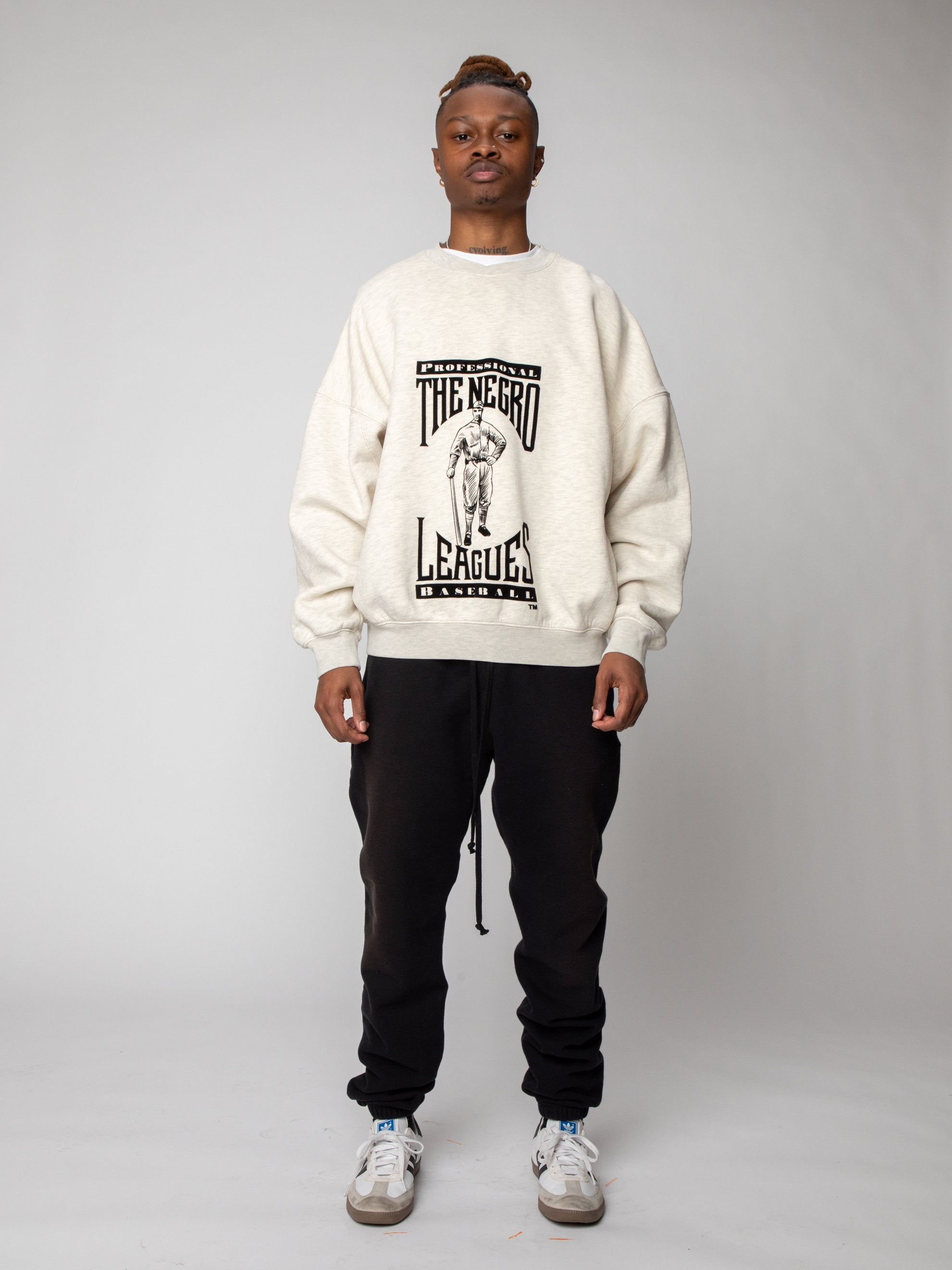 Cream Heather Negro League Sweatshirt 3
