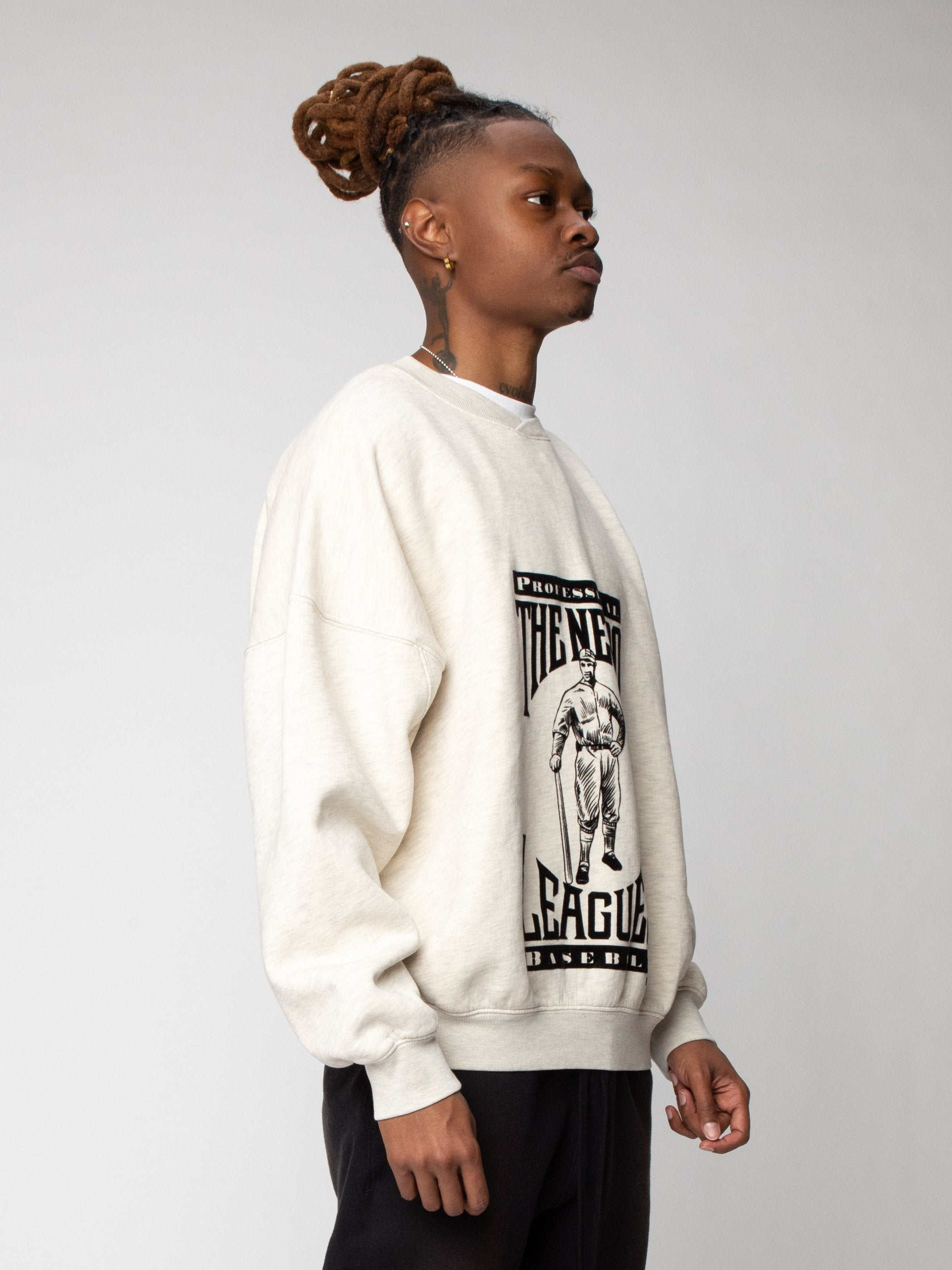 Cream Heather Negro League Sweatshirt 4