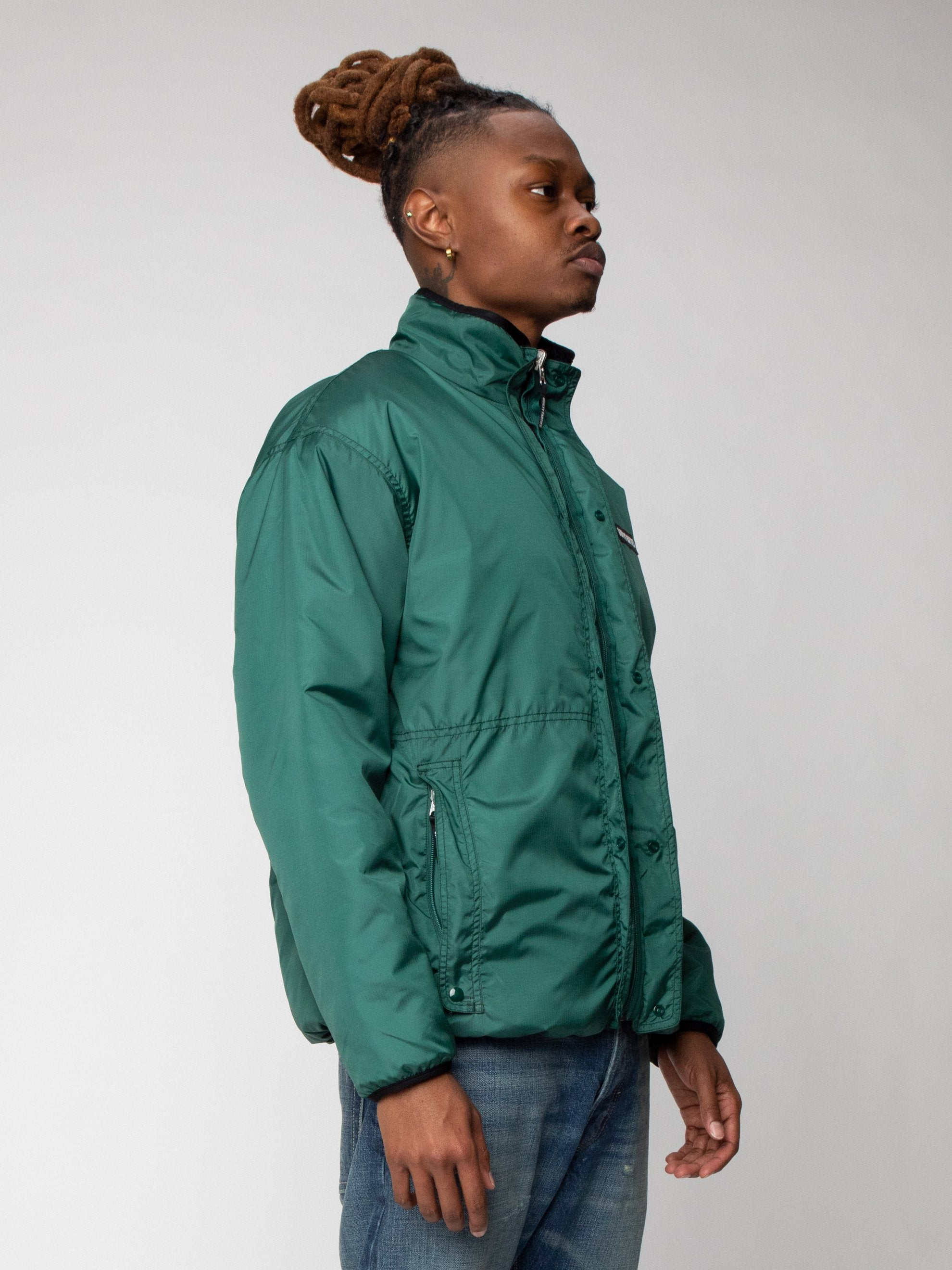 Green Reversible Boa Fleece Jacket 5