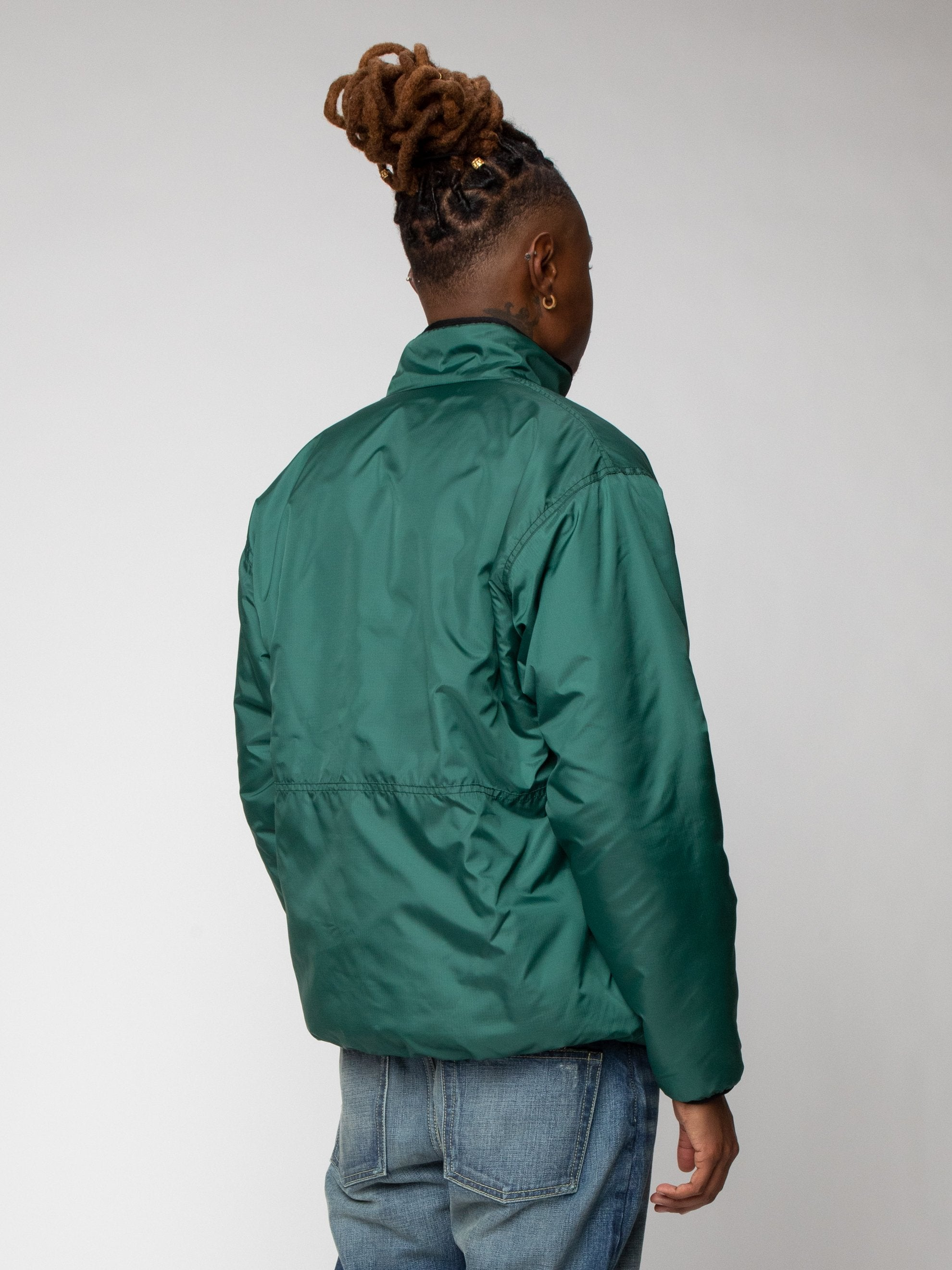Green Reversible Boa Fleece Jacket 6