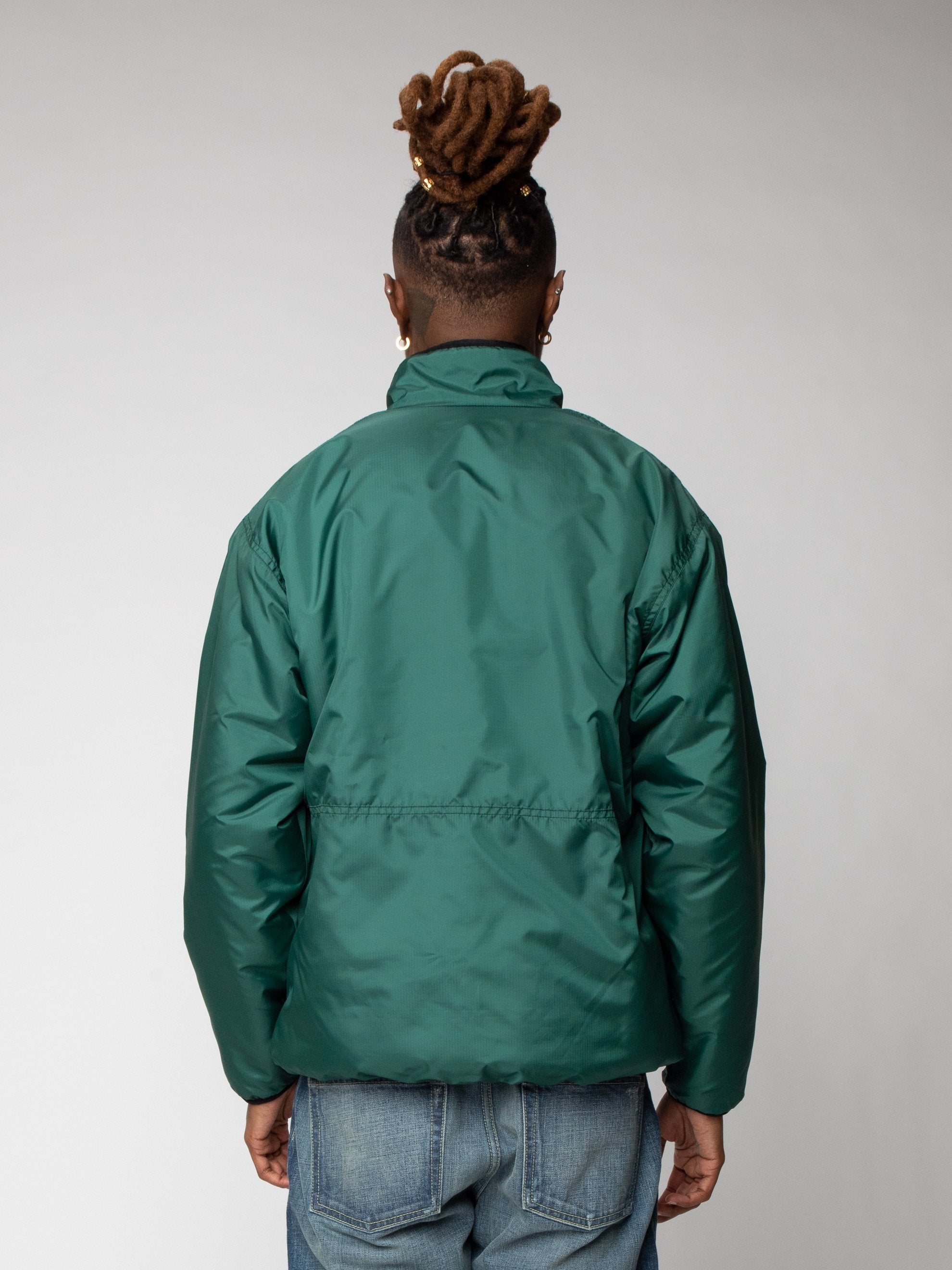 Green Reversible Boa Fleece Jacket 7