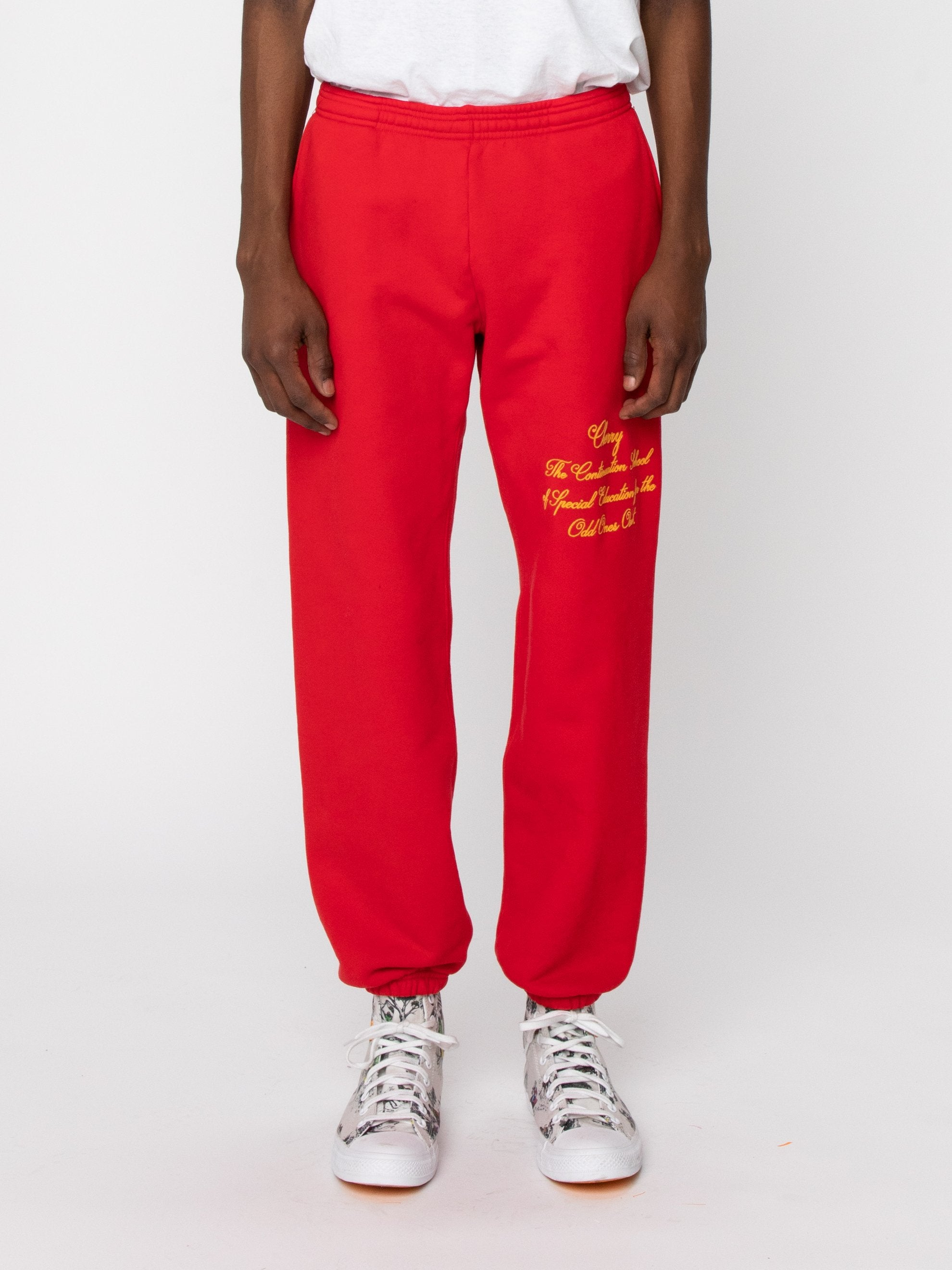 Red Odd Ones Out Sweatpants 2