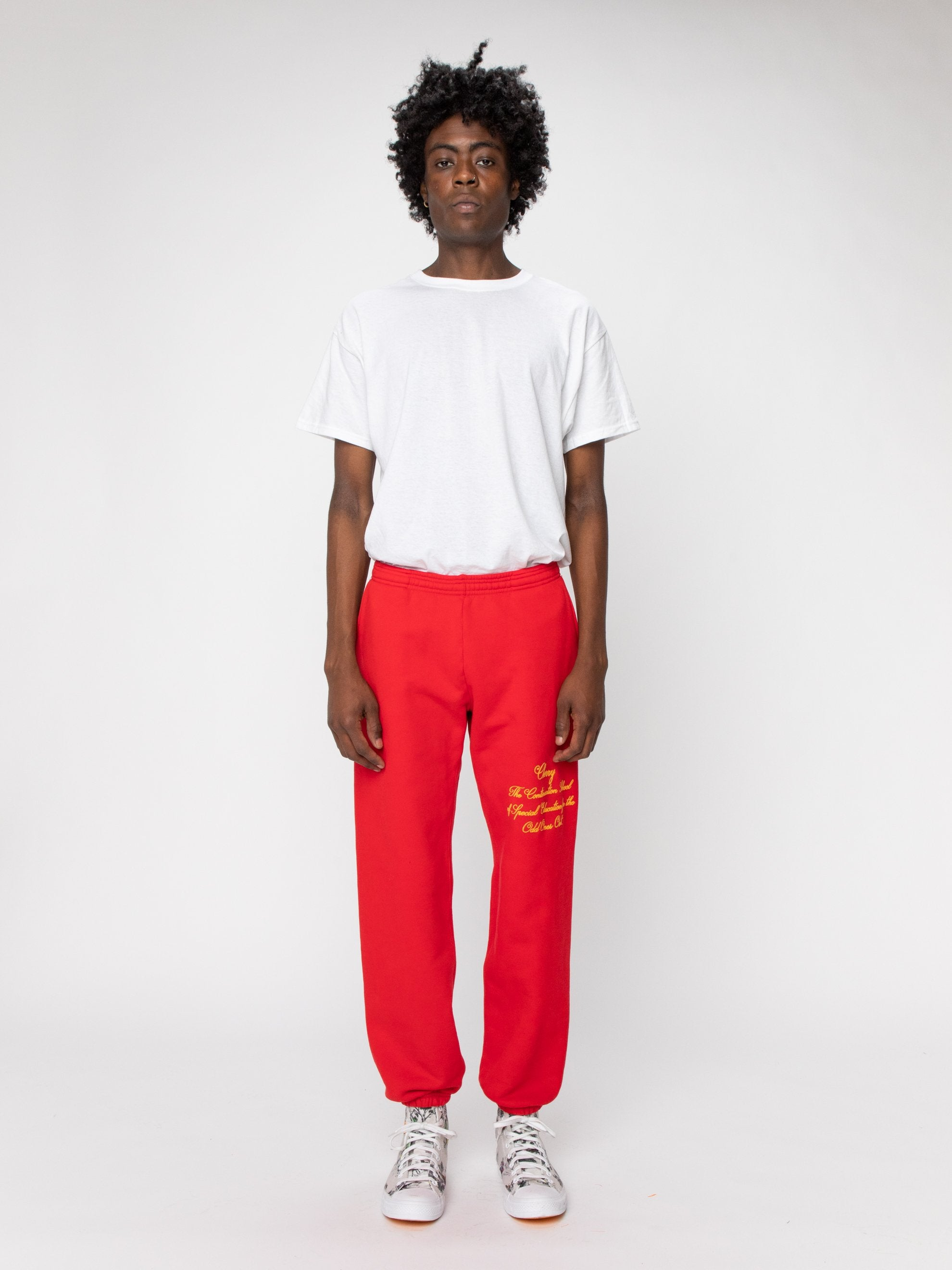 Red Odd Ones Out Sweatpants 3