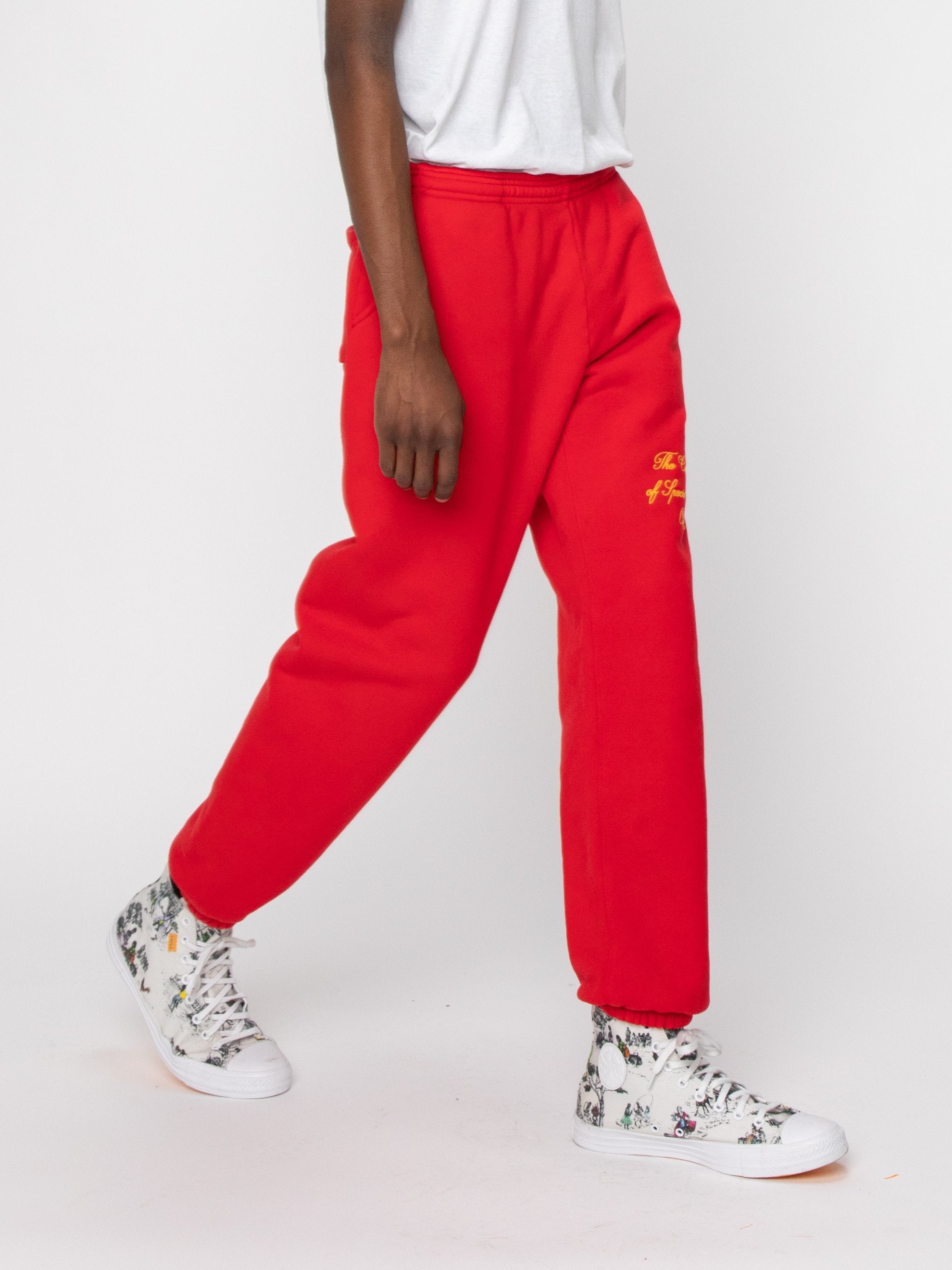 Red Odd Ones Out Sweatpants 6