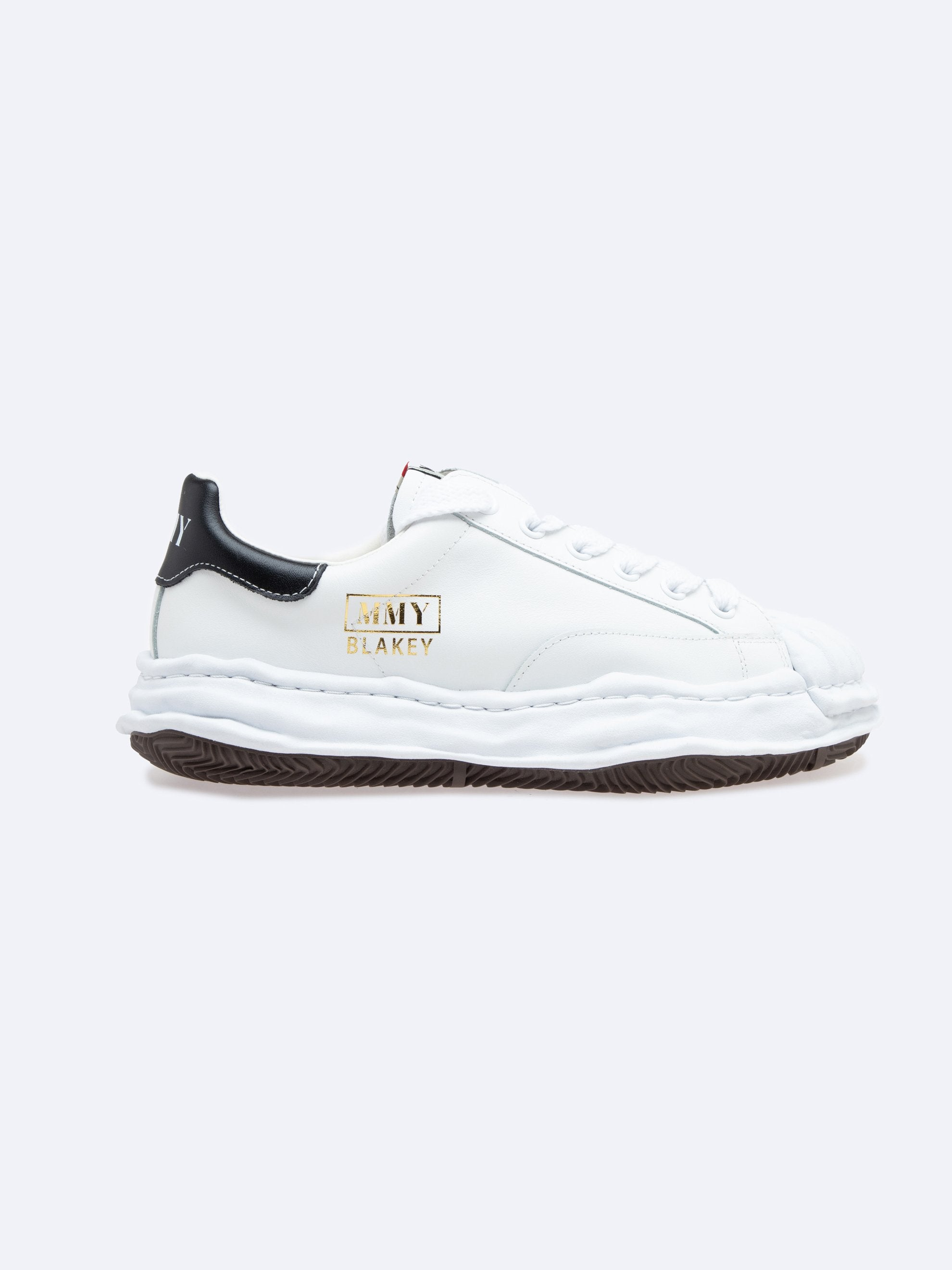 White Blakey Low Original Sole Leather Sneaker 1