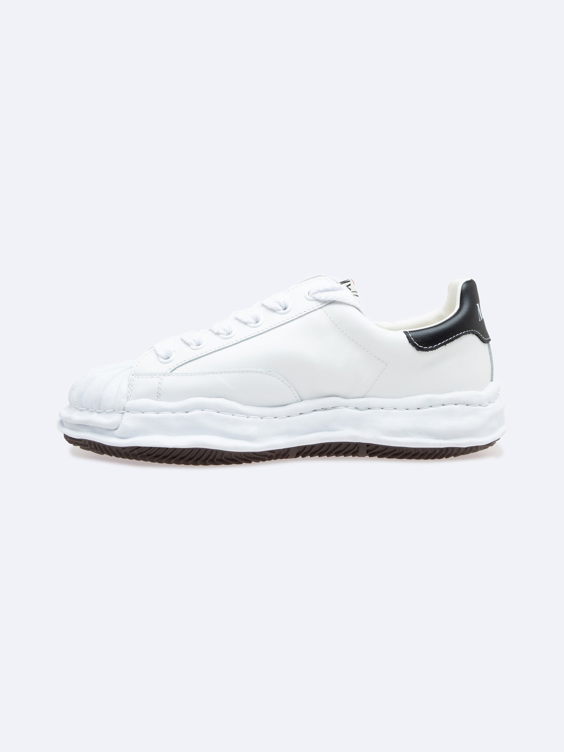White Blakey Low Original Sole Leather Sneaker 2