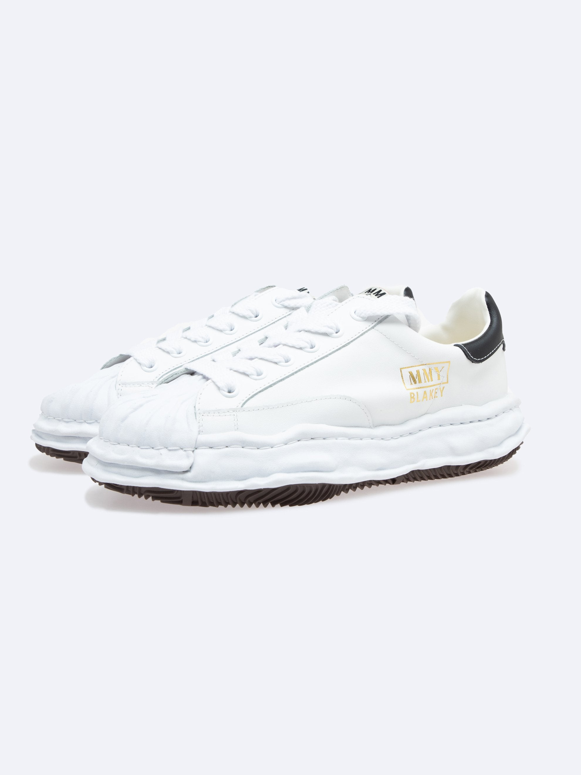 White Blakey Low Original Sole Leather Sneaker 3