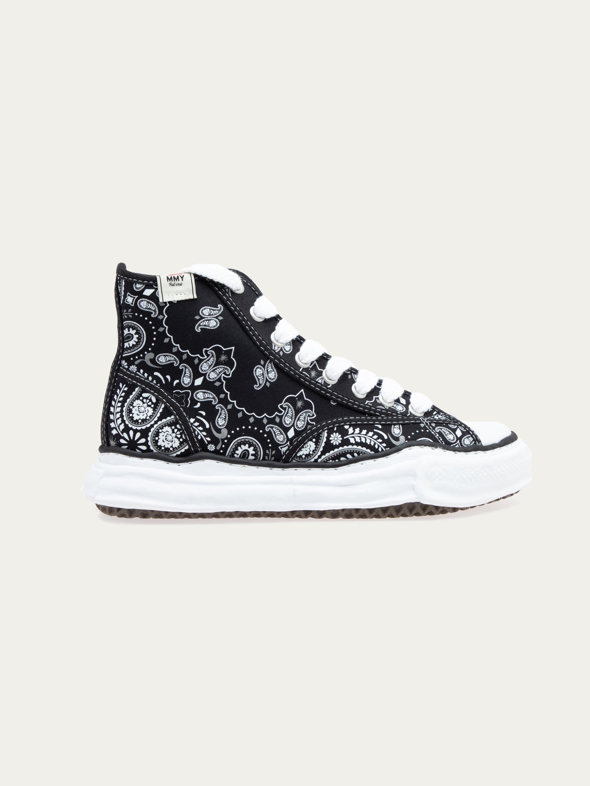 Black Peterson Hi Original Sole Bandana Printed Sneaker 1