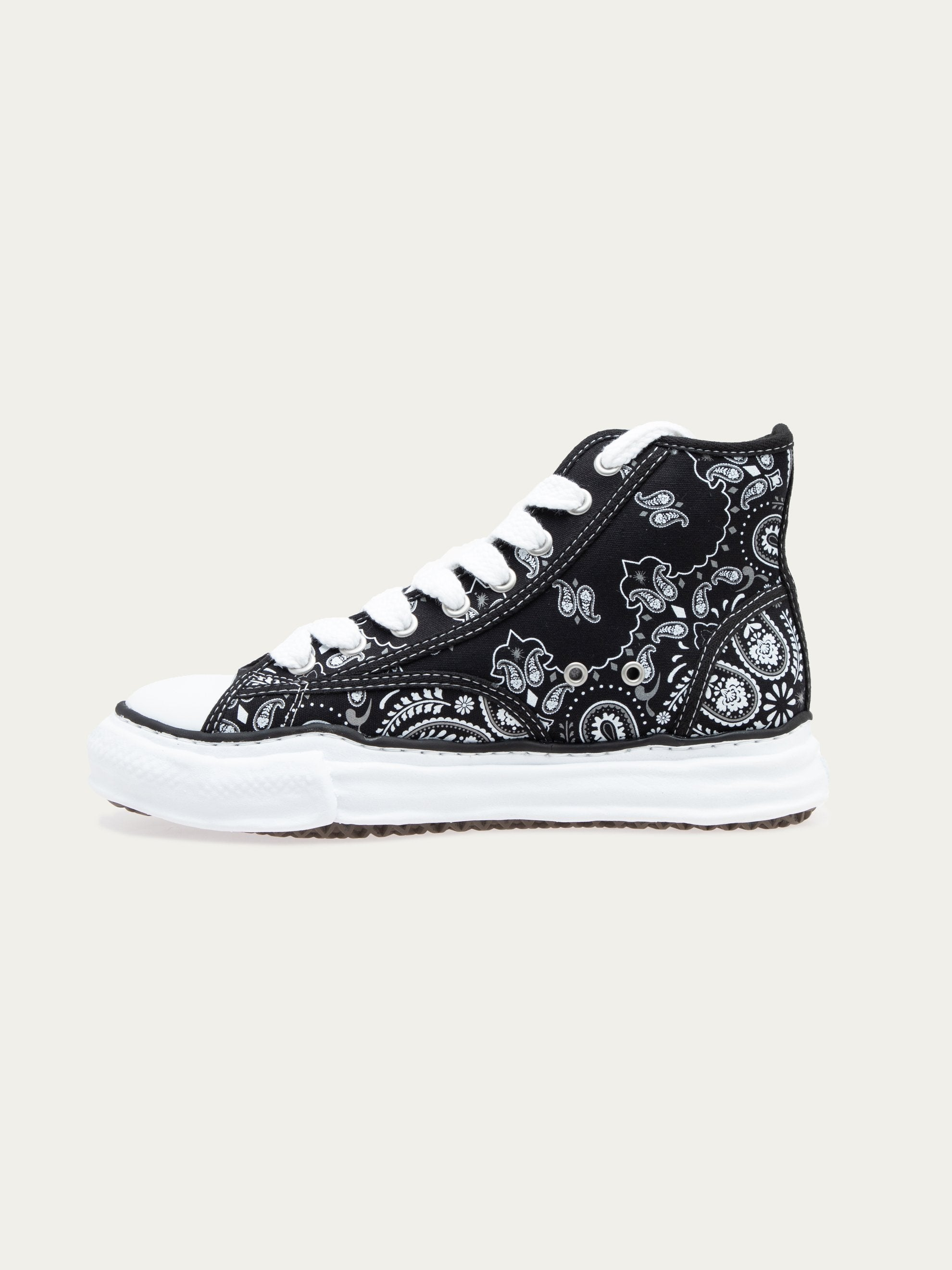 Black Peterson Hi Original Sole Bandana Printed Sneaker 2