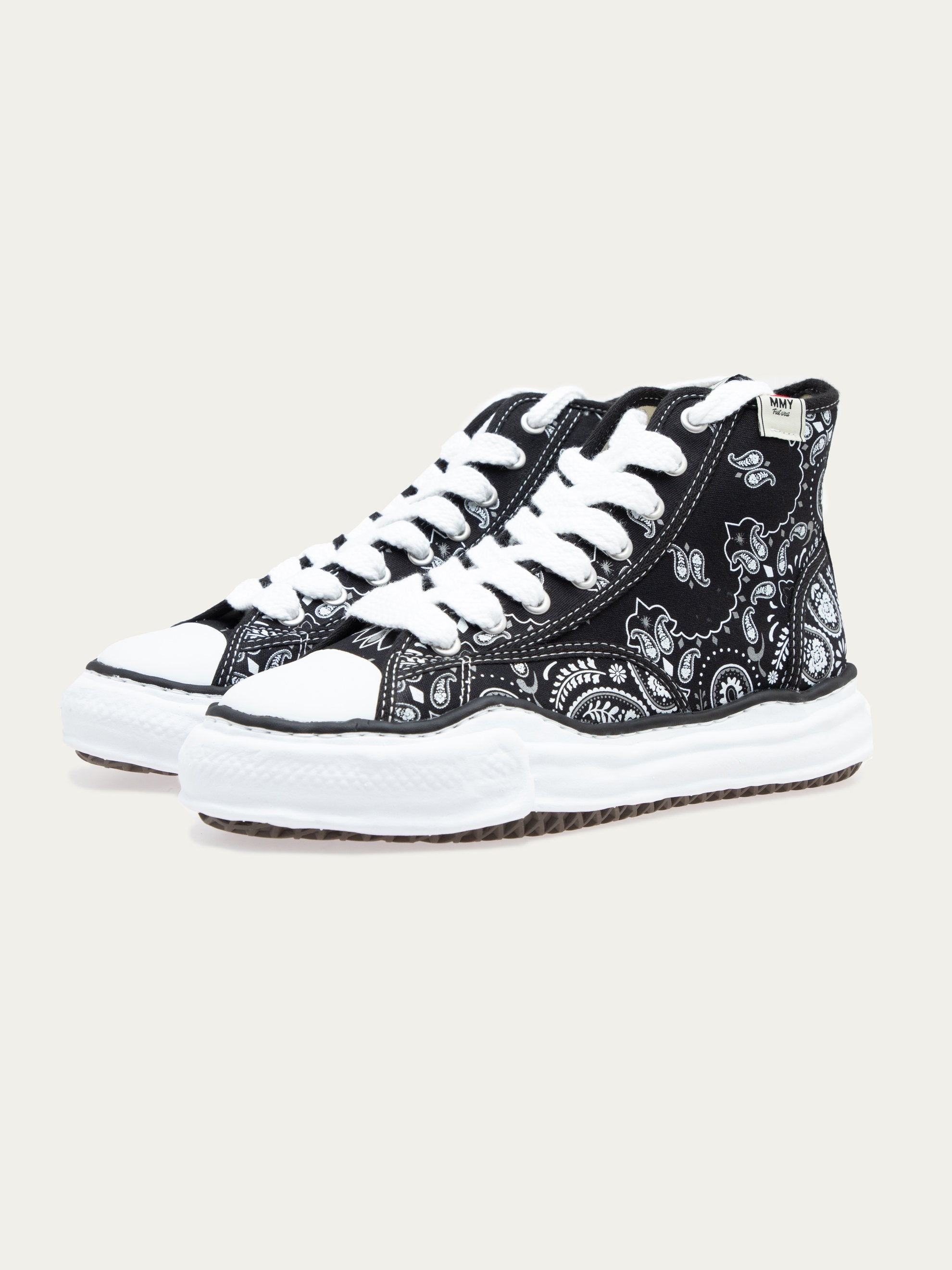 Black Peterson Hi Original Sole Bandana Printed Sneaker 3