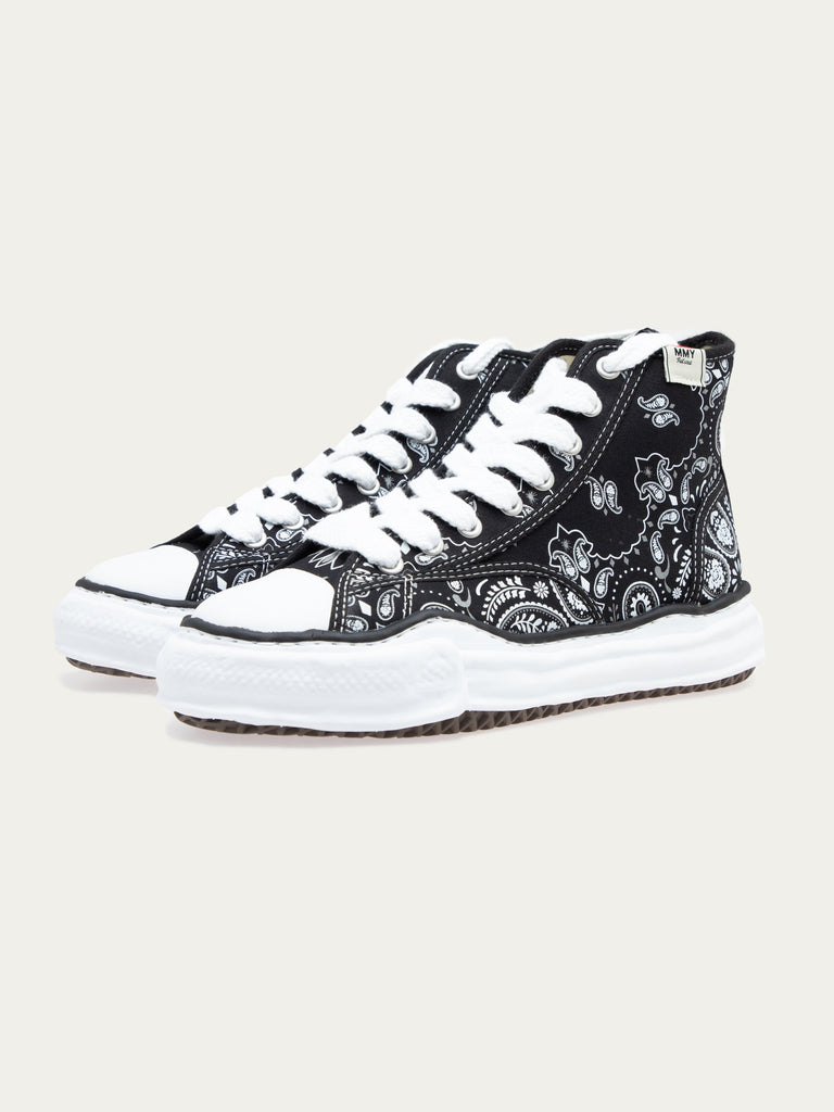 Black Peterson Hi Original Sole Bandana Printed Sneaker 316306721816653