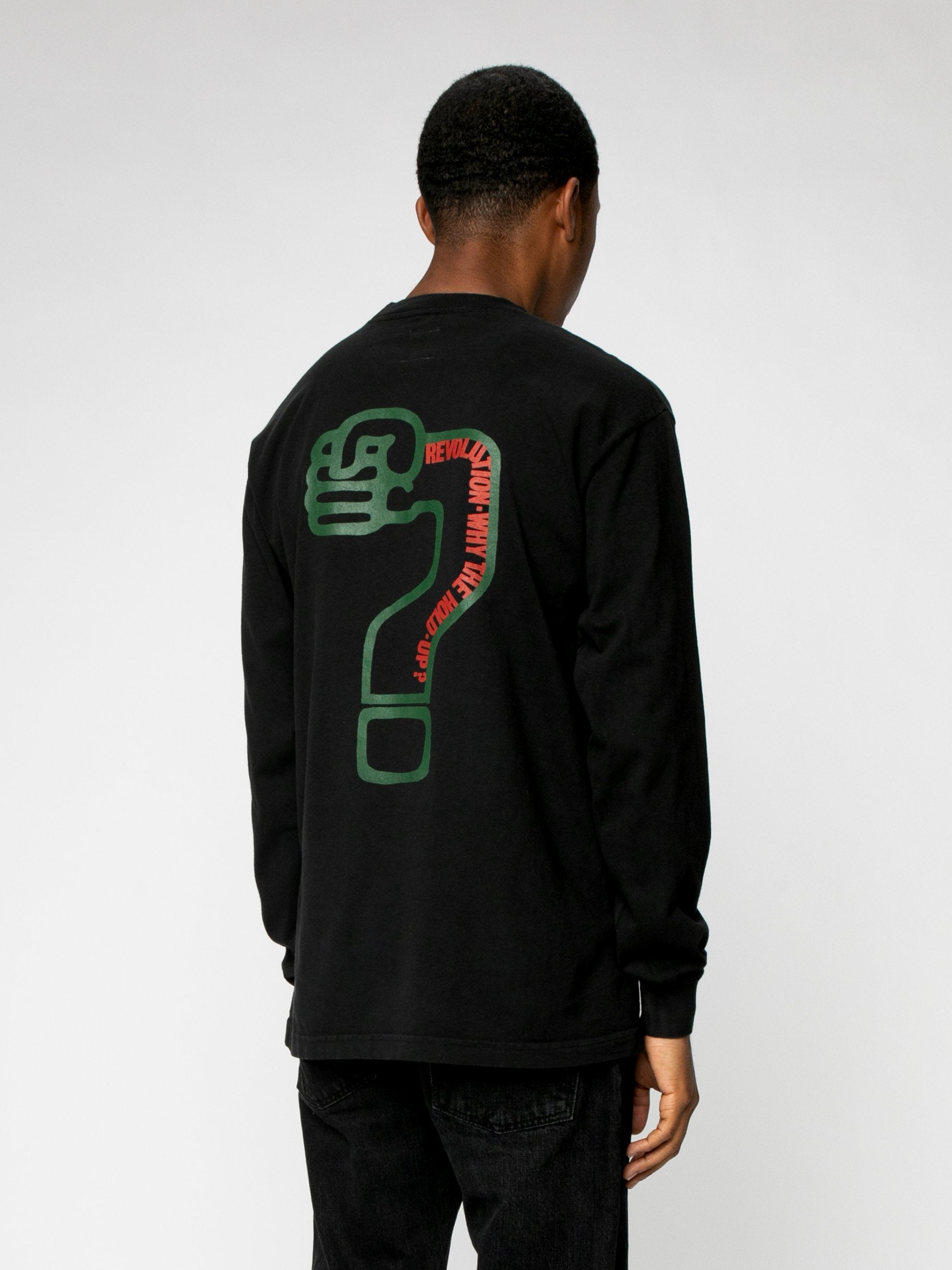 Any More ?'s L/S Pocket Tee