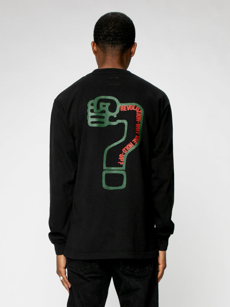 Any More ?'s L/S Pocket Tee16327584383053