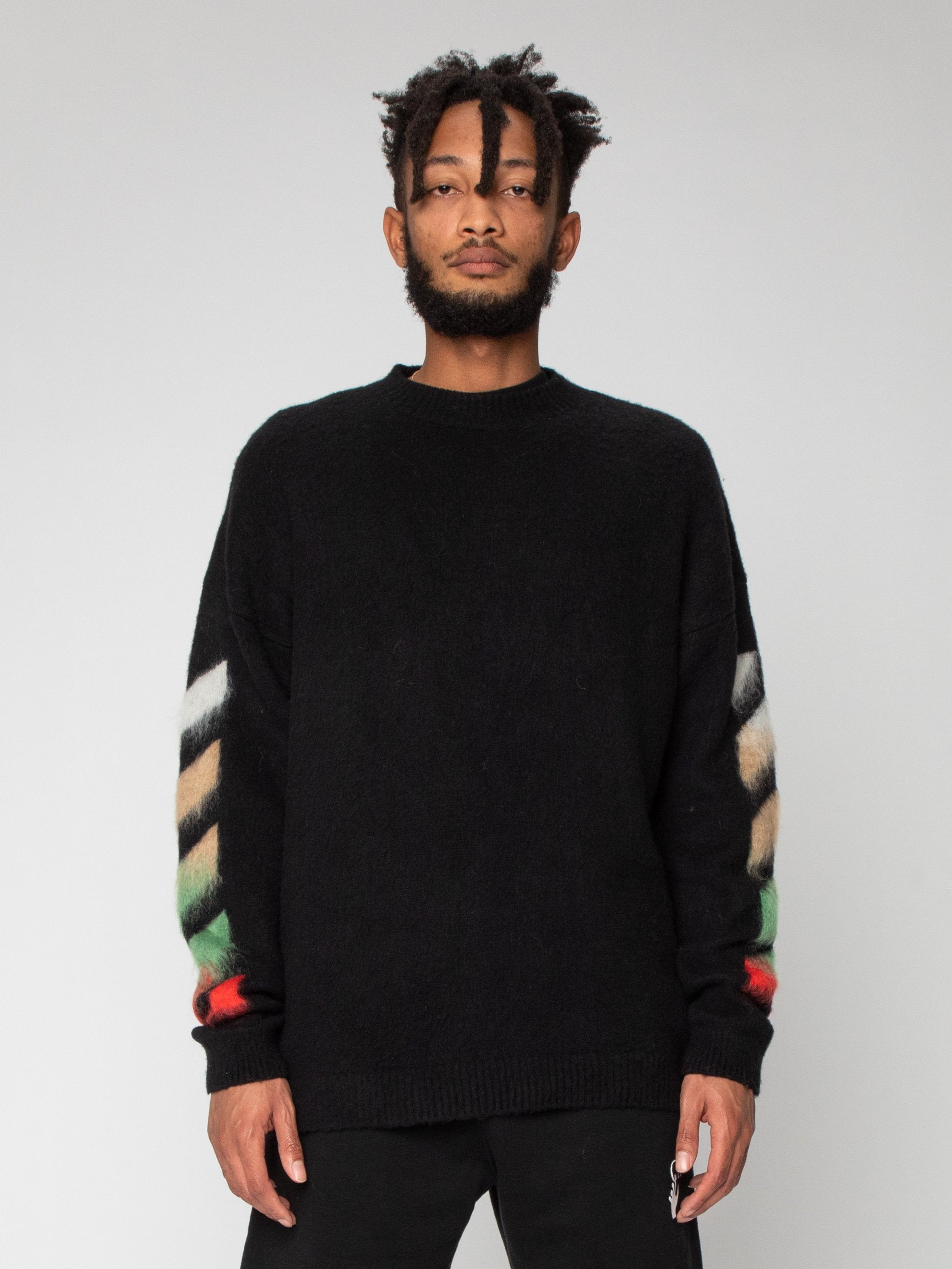 Diag Brushed Crewneck