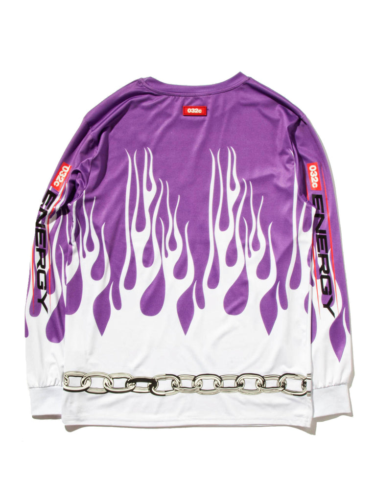 XXL Motocross Long Sleeve Flames T-Shirt 619673996169