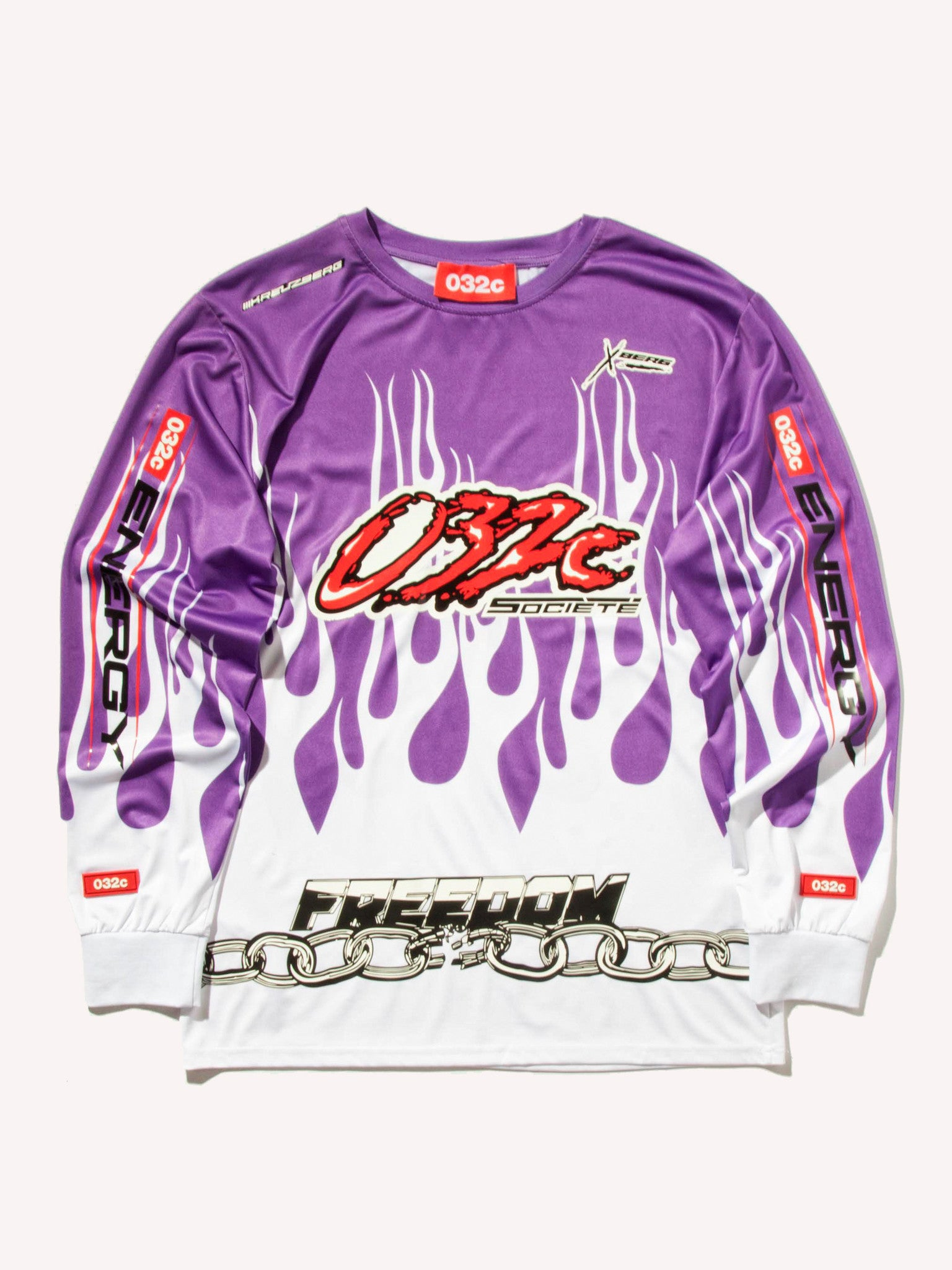 S Motocross Long Sleeve Flames T-Shirt 1
