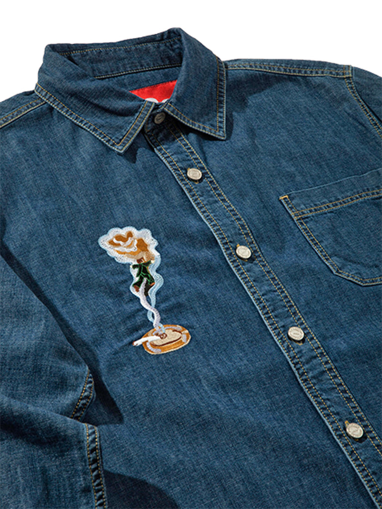 XL Smoker's Collection Jean Shirt 623396926985