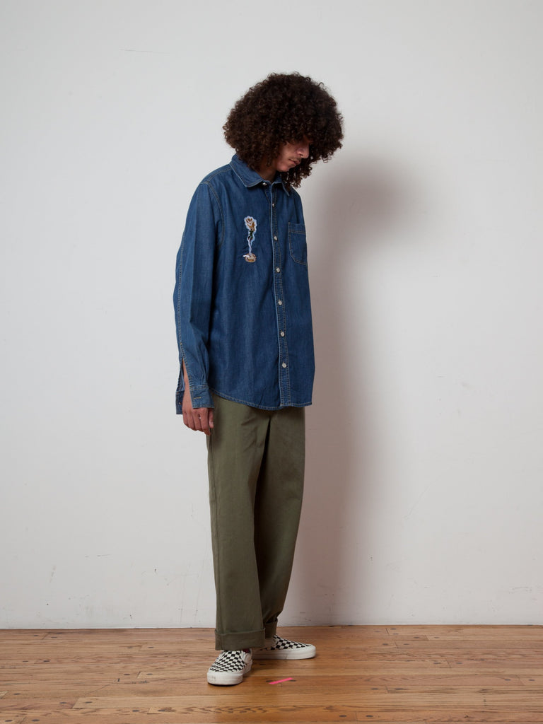 L Smoker's Collection Jean Shirt 323381413705