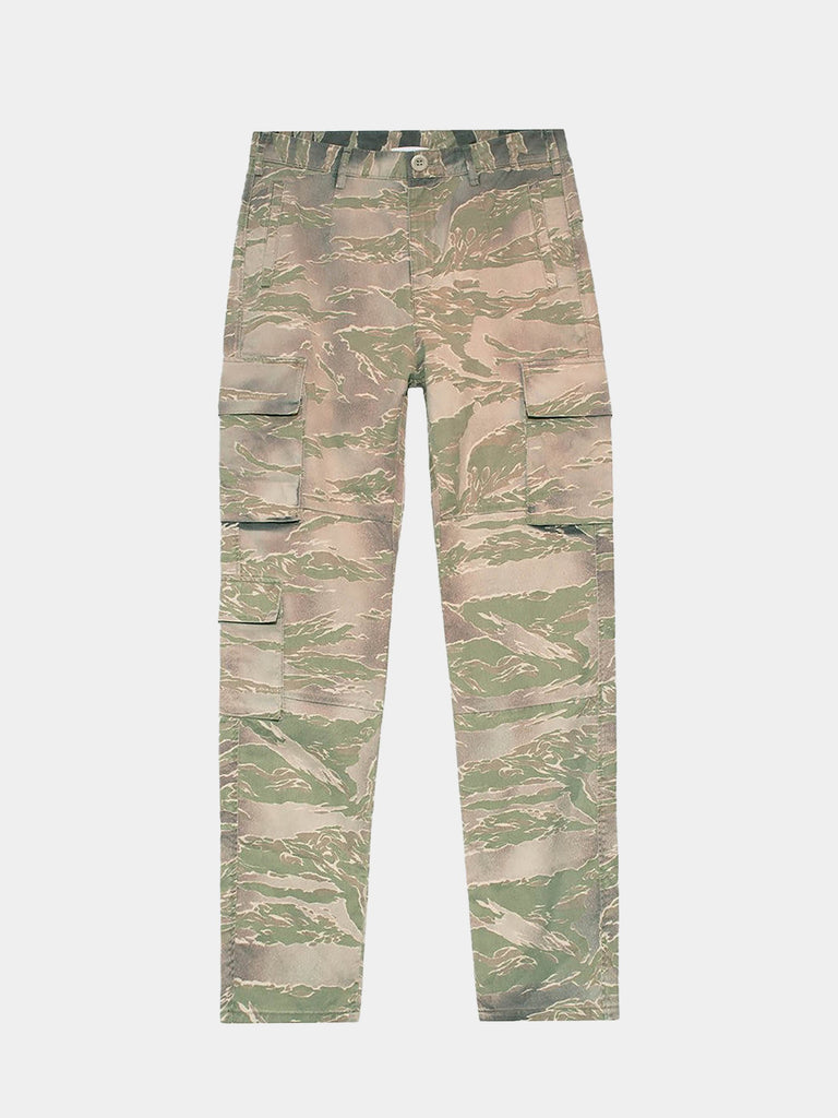 Utility Cargo Pants Washed Tiger Camo