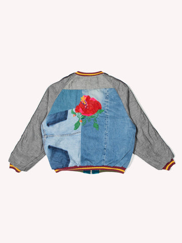 Denim Reconstruct Souvenir Jacket