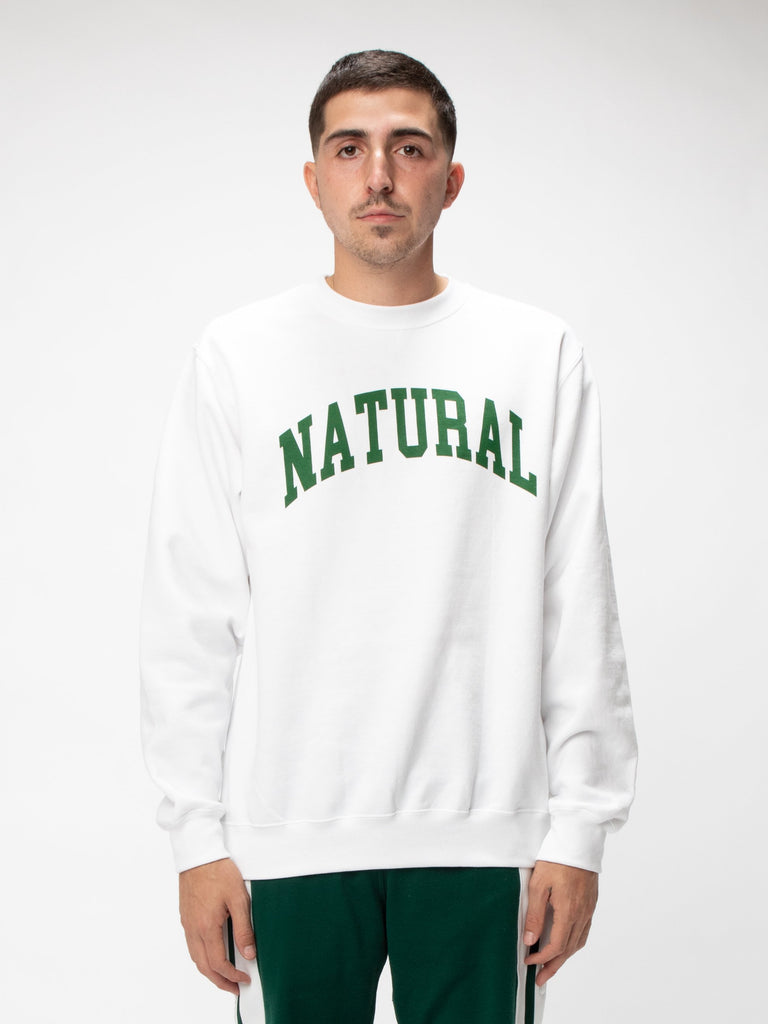 White Natural Fleece Crew UNION 315852198854733