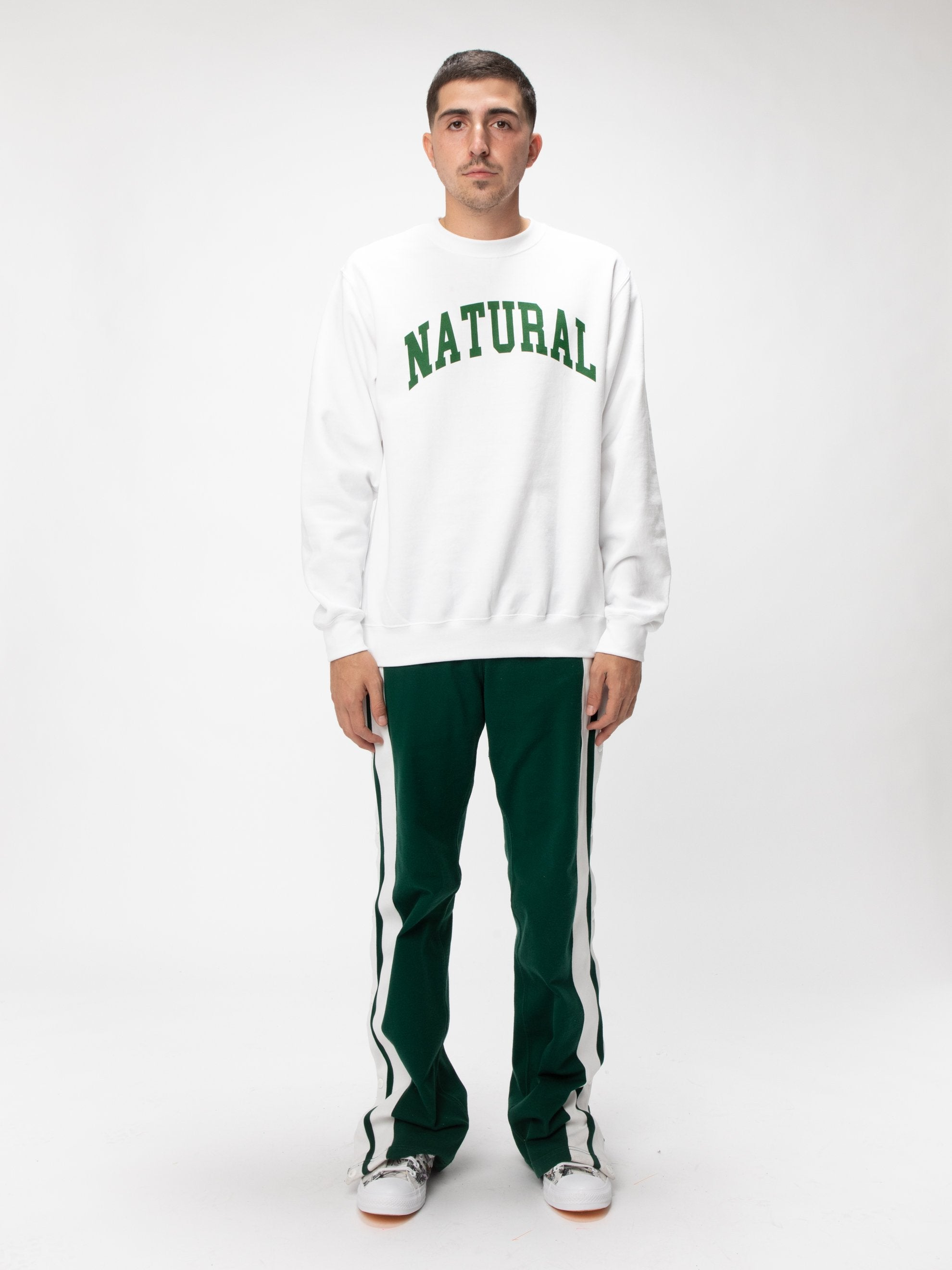 White Natural Fleece Crew UNION 2
