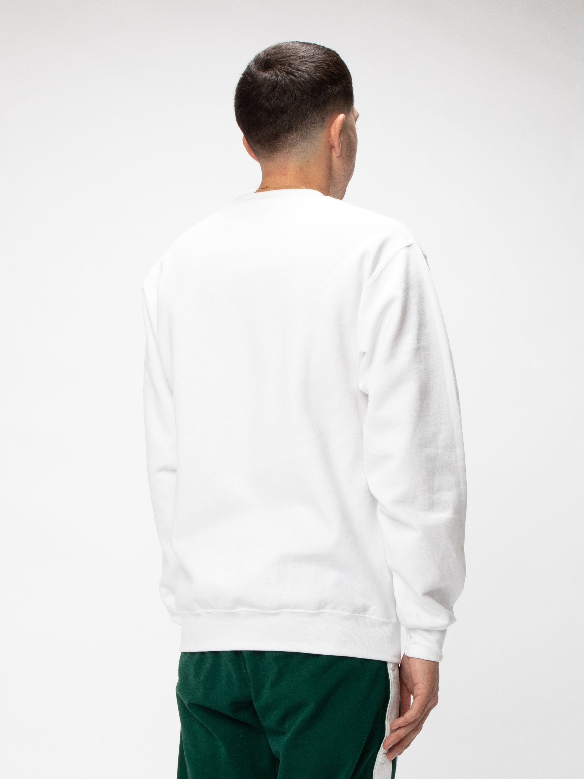 White Natural Fleece Crew UNION 5