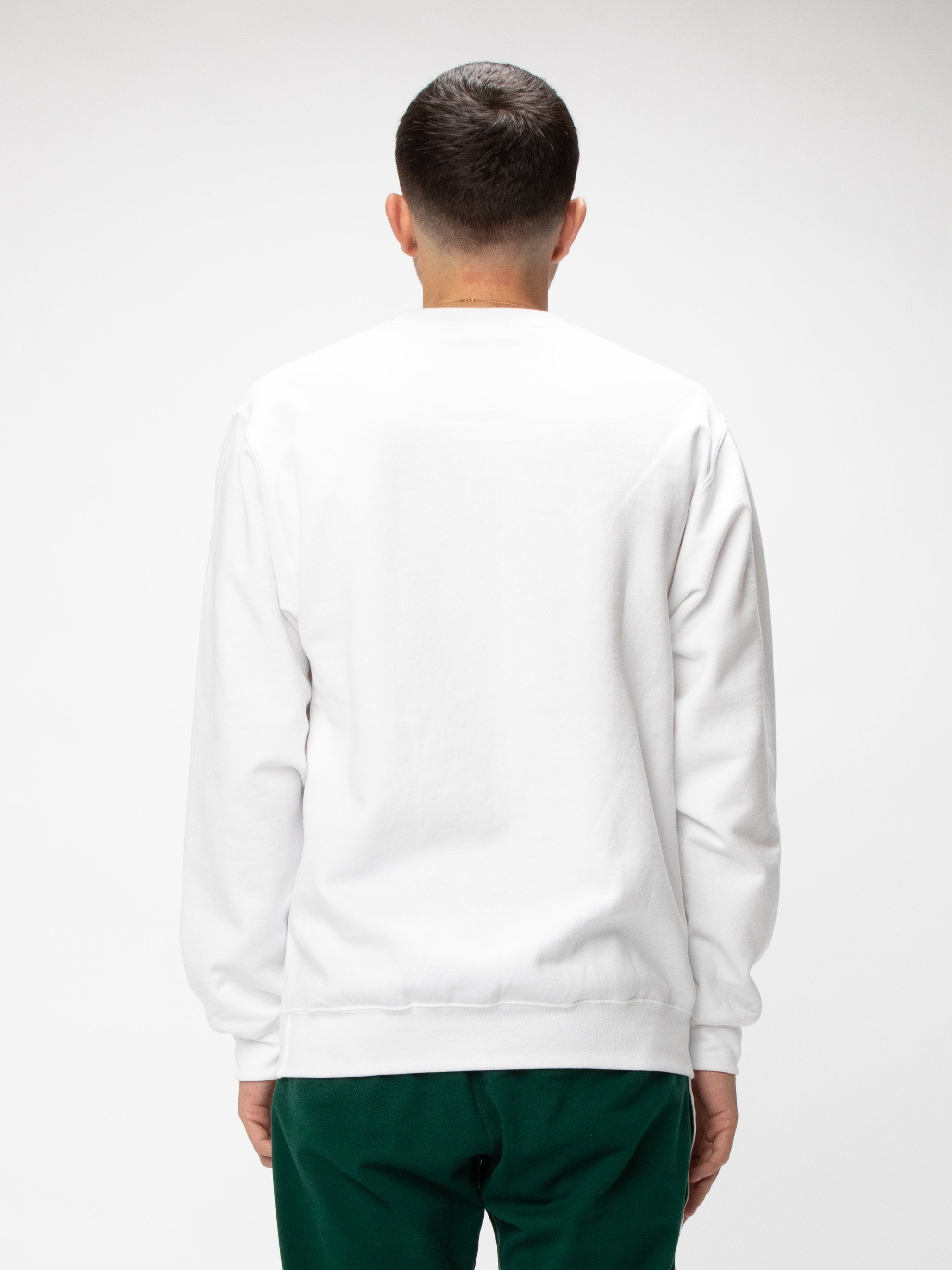 White Natural Fleece Crew UNION 6