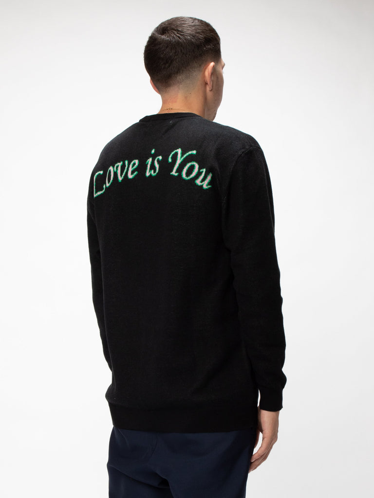 Black Love Is You Knit Sweater 515852889505869
