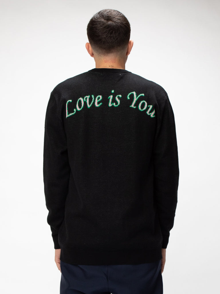 Black Love Is You Knit Sweater 615852889636941