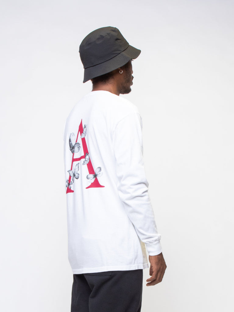 White Flutter Long Sleeve T-Shirt 415825199005773