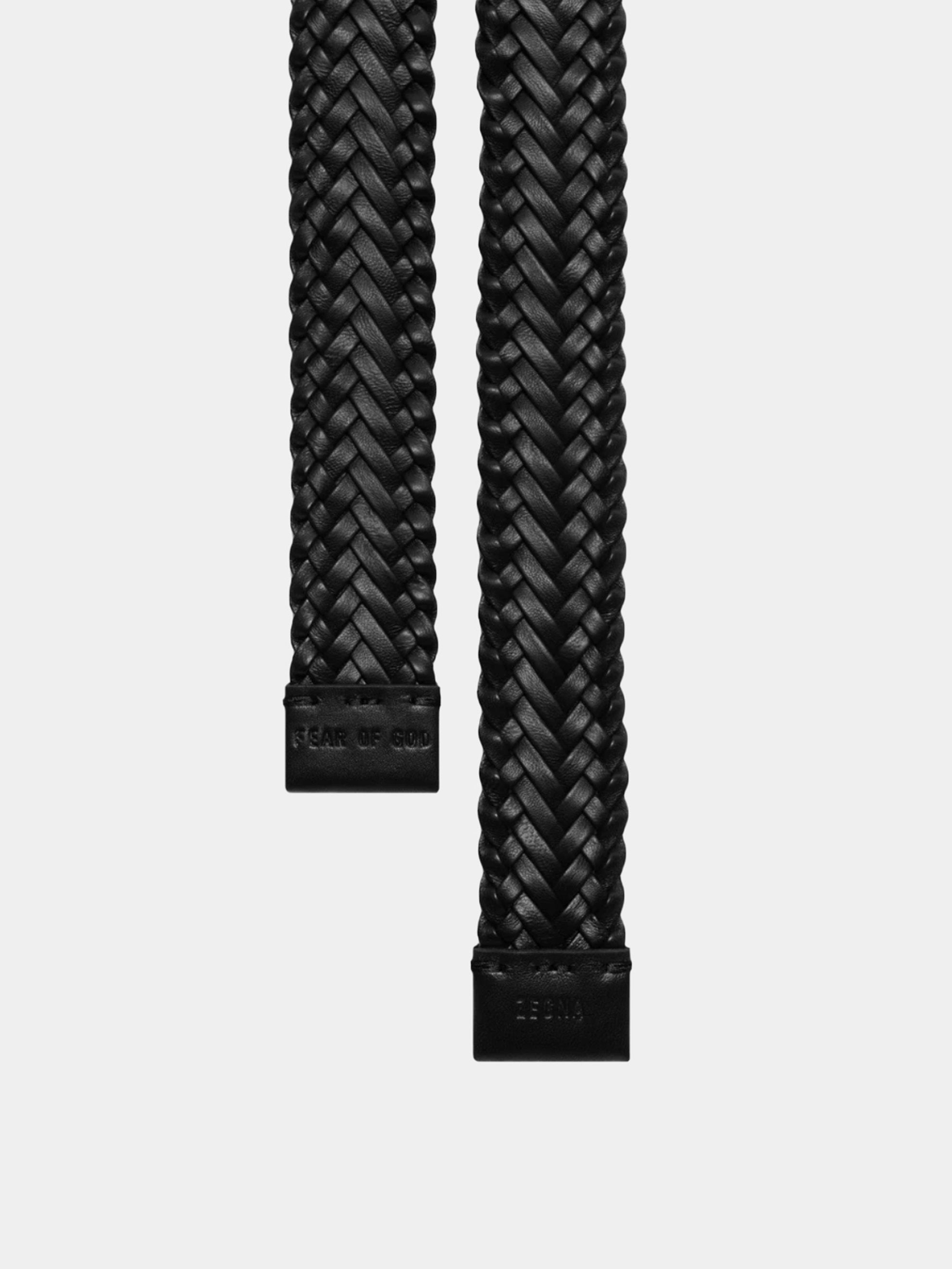 FEAROFGODZegna Braided Leather Belt