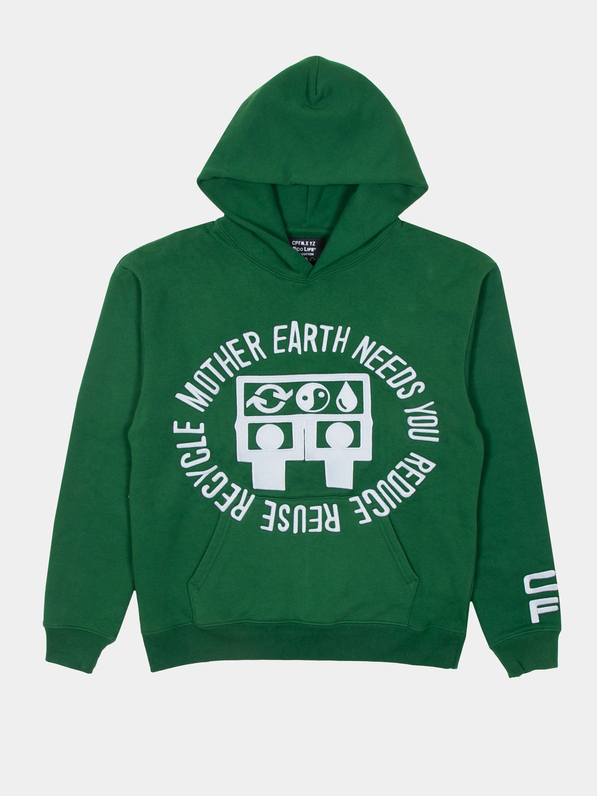 Green CPFM x Eco Mother Earth Hooded Sweatshirt 1