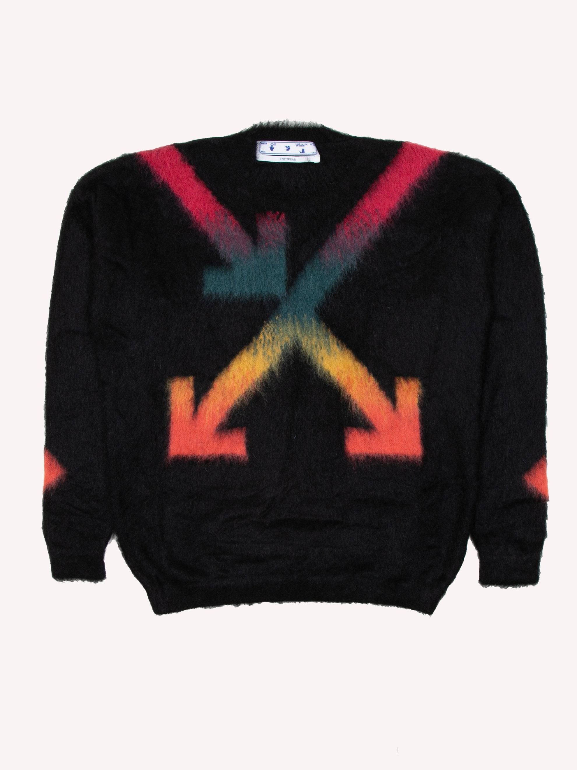 Black Fuzzy Arrows Crewneck 1