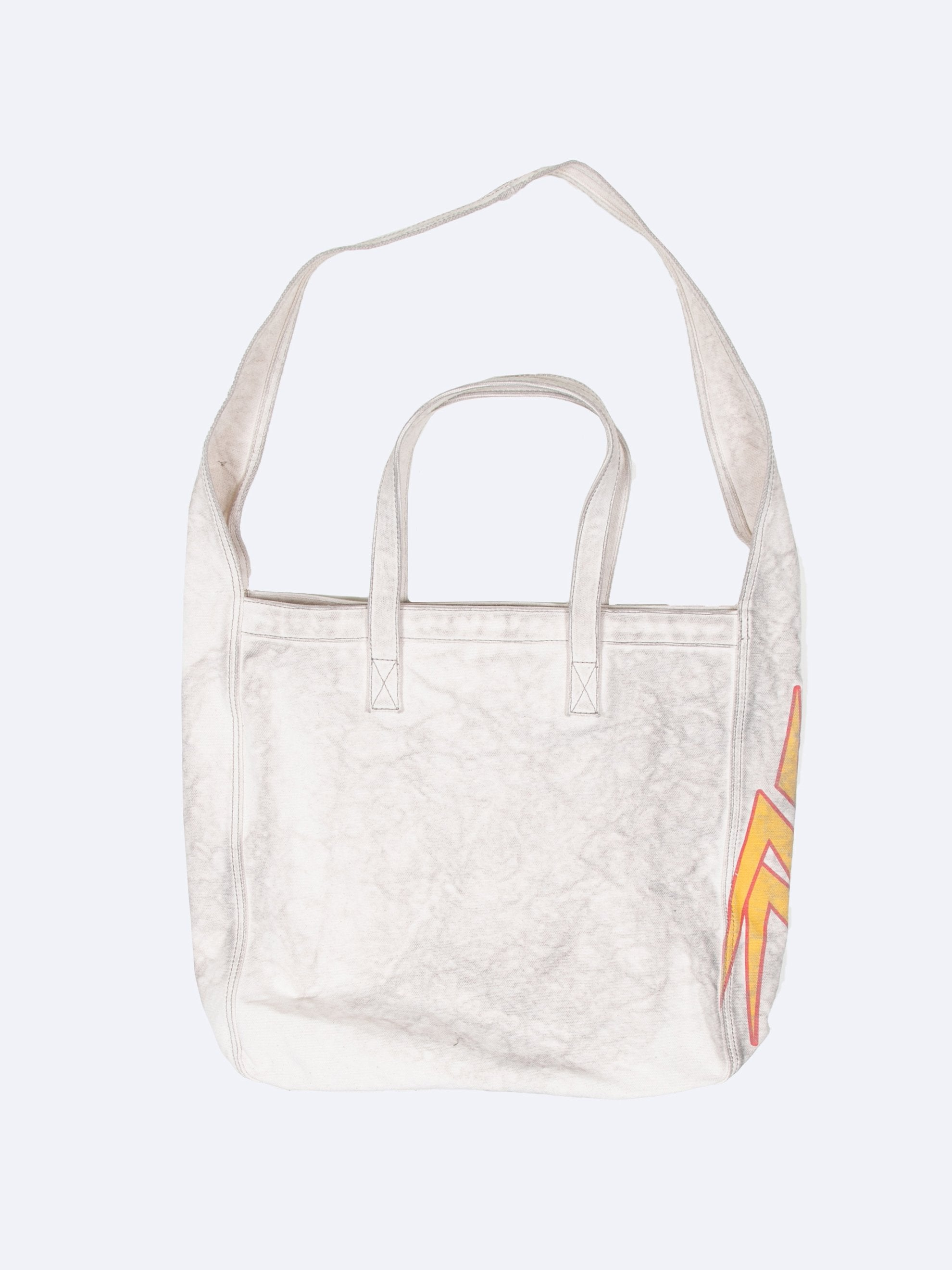 Beige/Yellow Pascal Vintage Canvas Tote 2