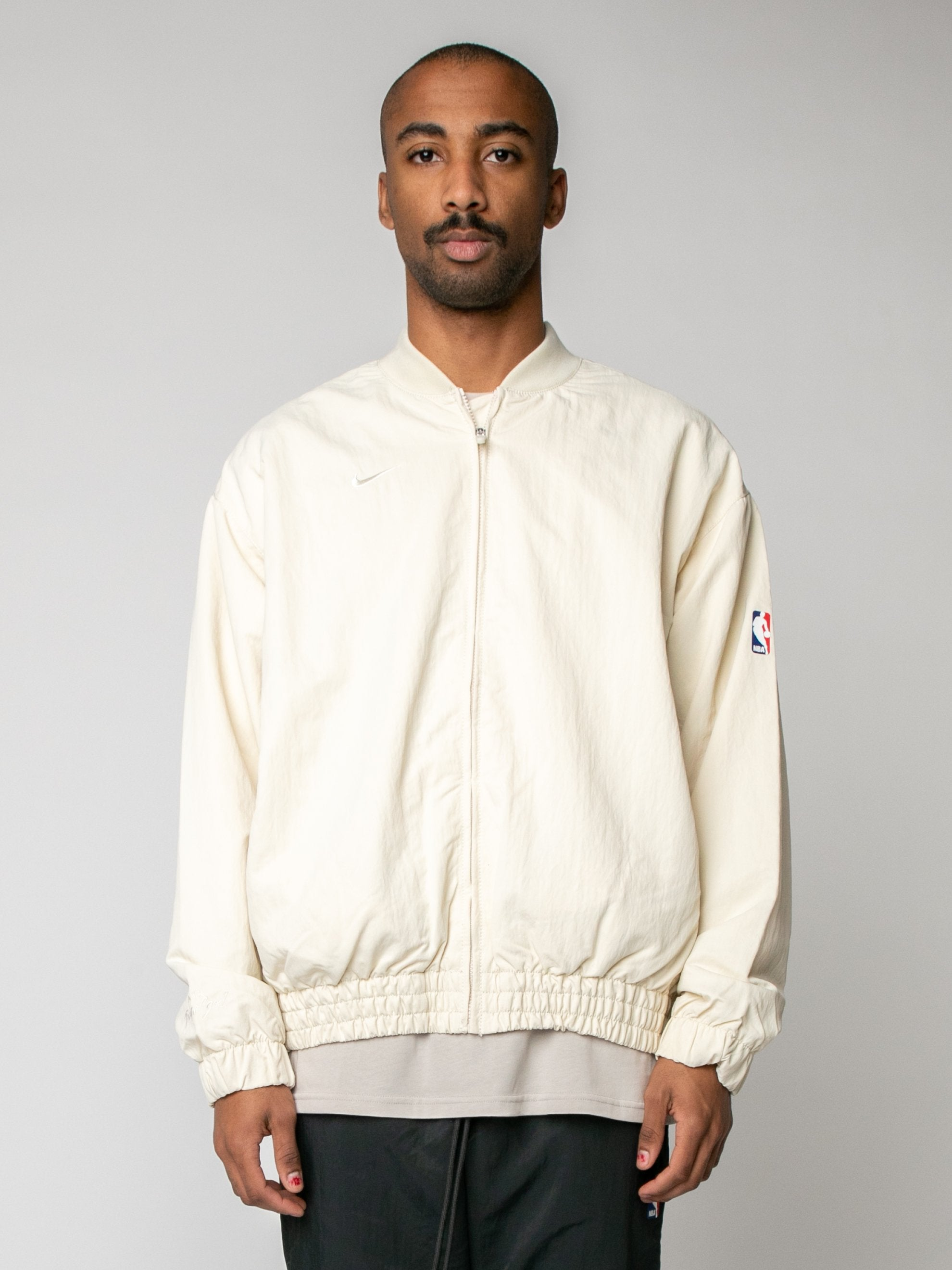 Light Cream Nike x Fear of God Basketball Jacket 2