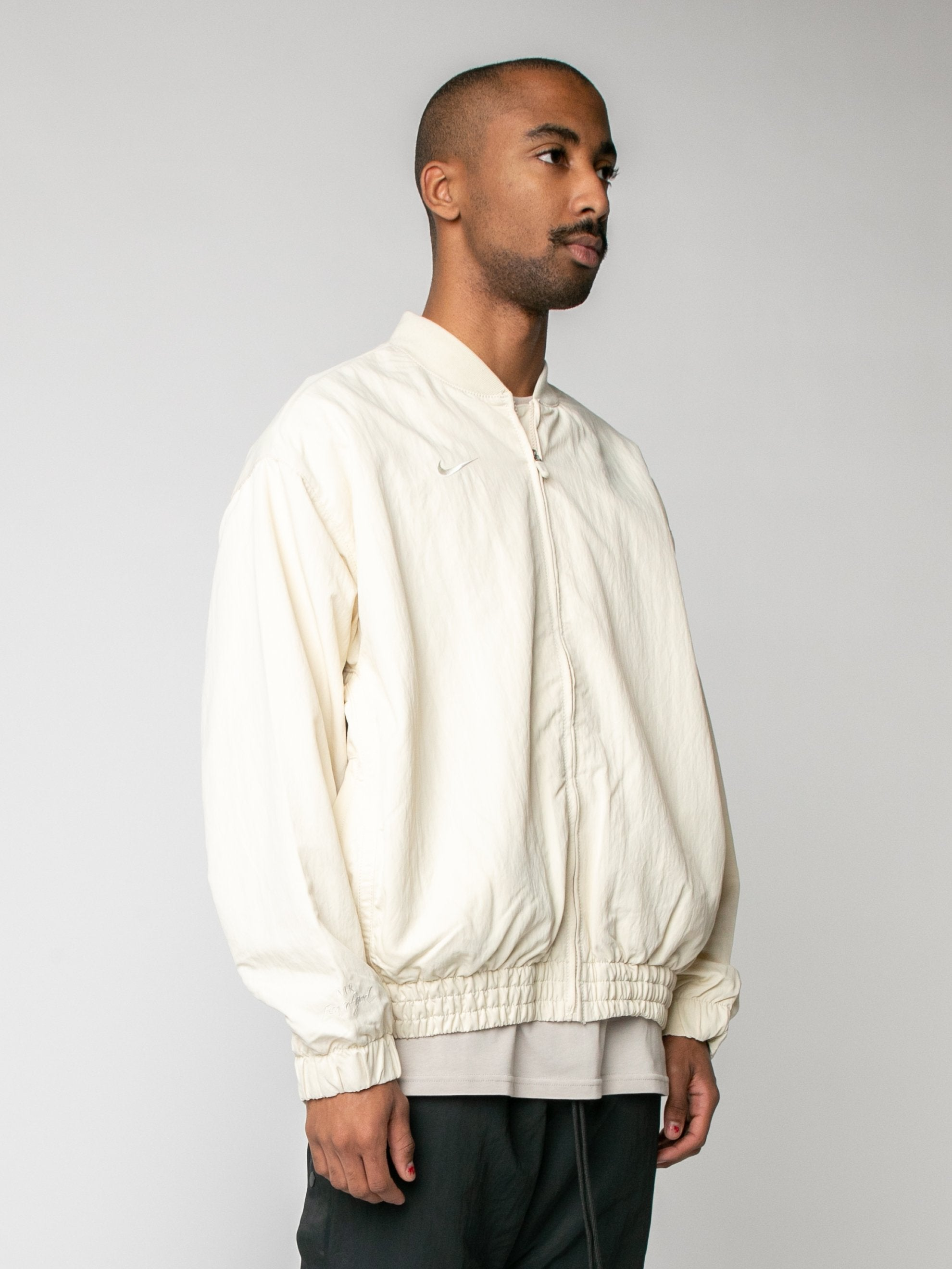Light Cream Nike x Fear of God Basketball Jacket 4