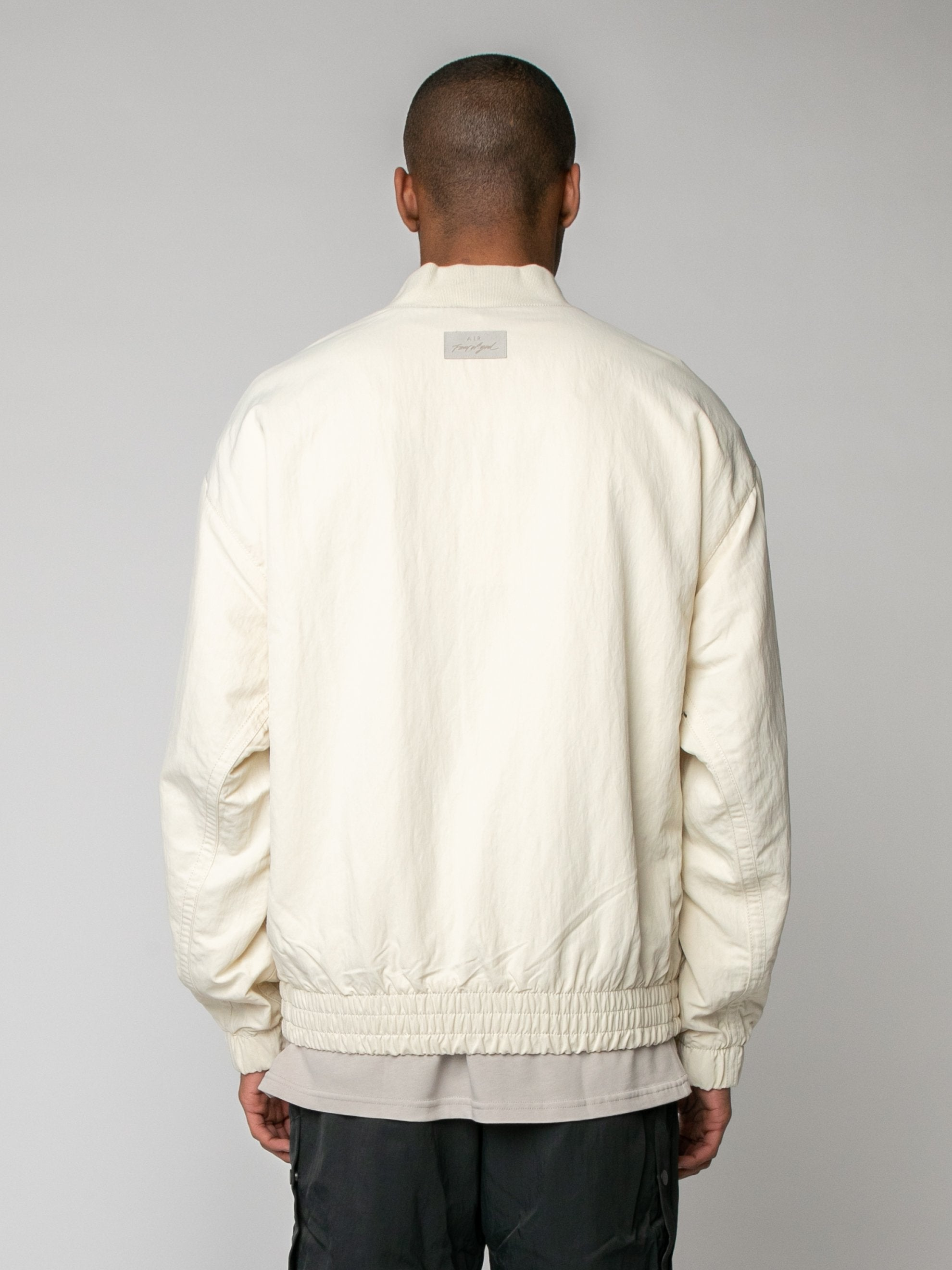 Light Cream Nike x Fear of God Basketball Jacket 6