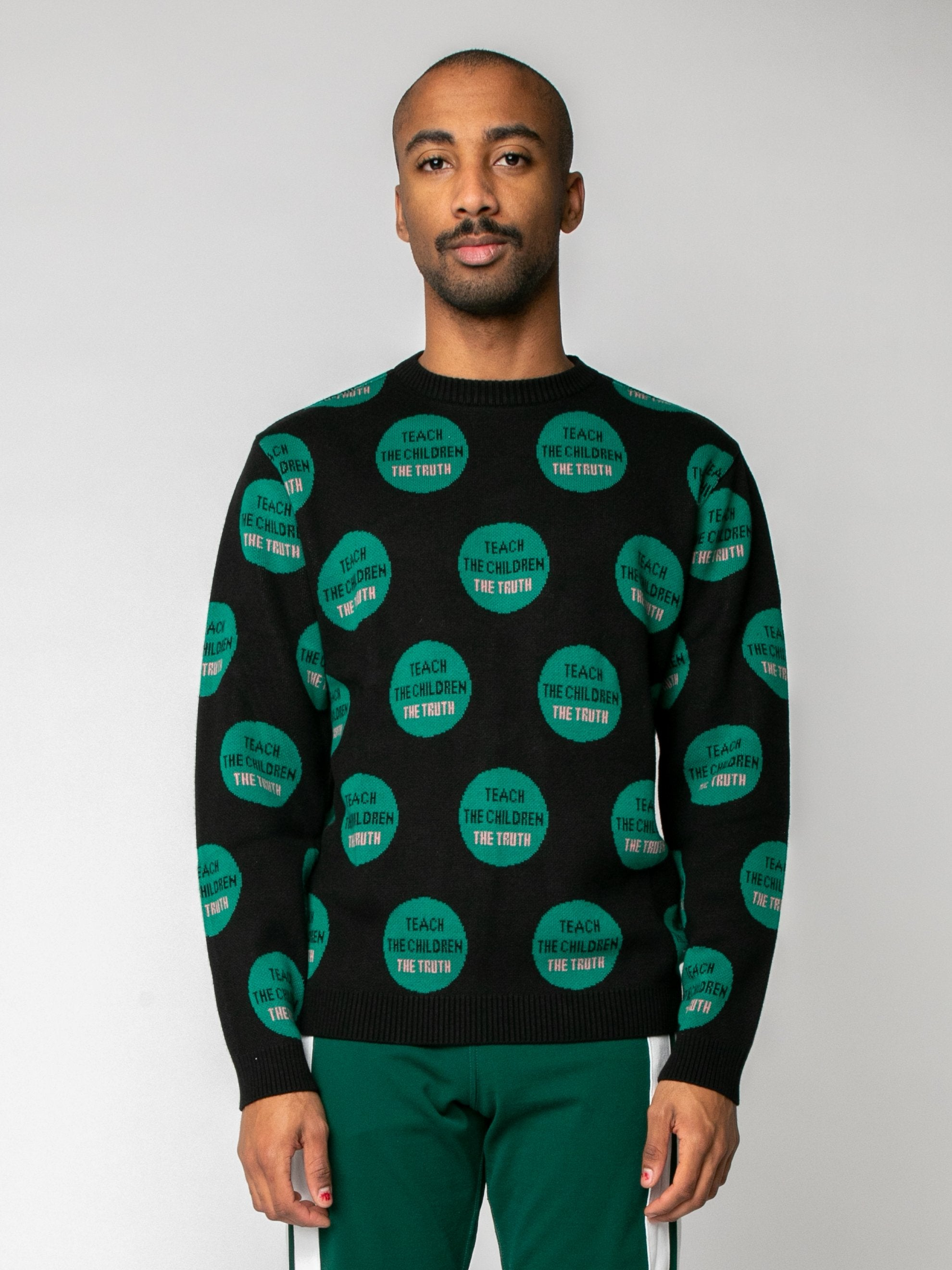 Black Truth Pullover Sweater 2