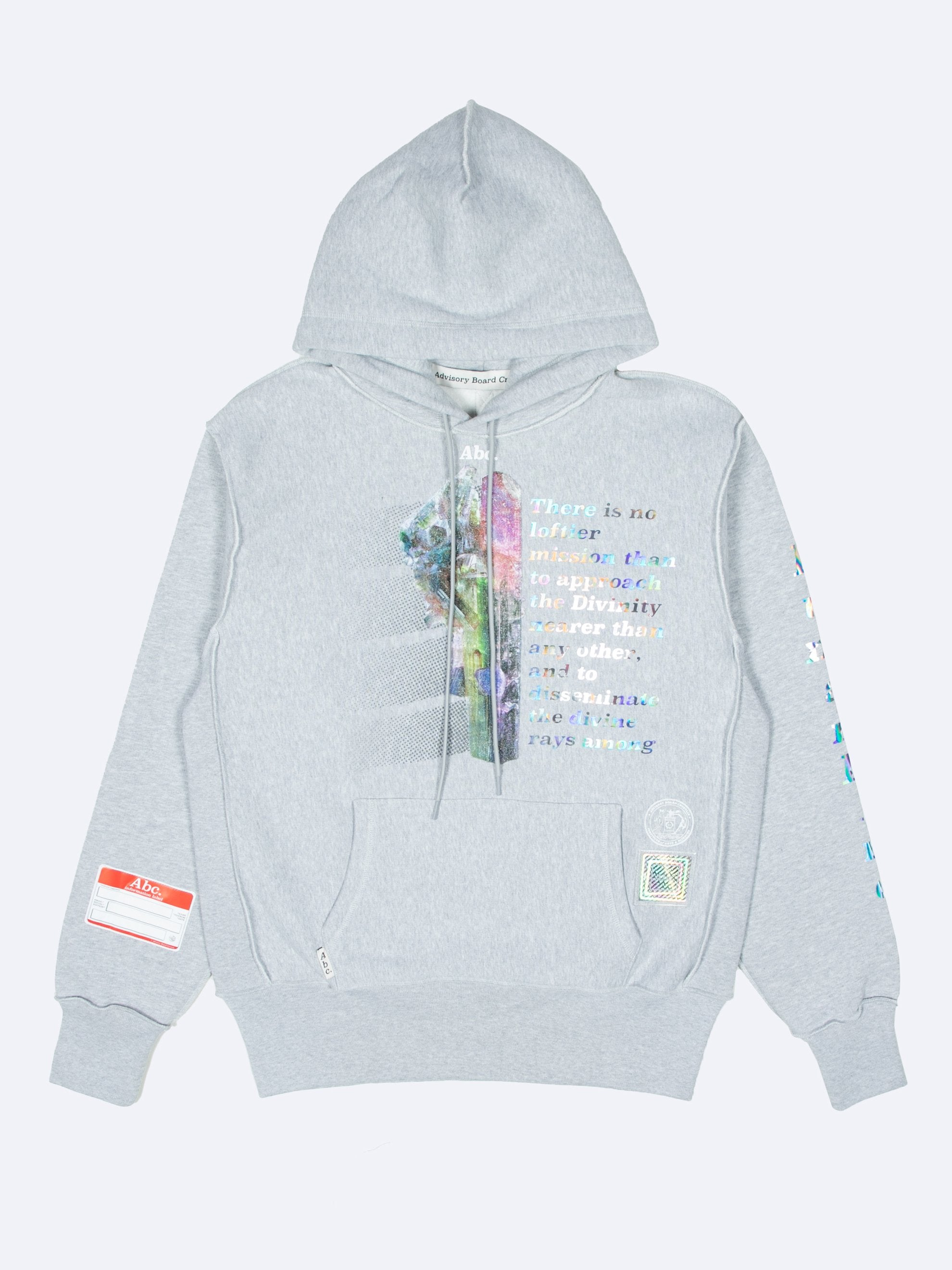 Grey Planet Saving  Hooded Sweatshirt 1