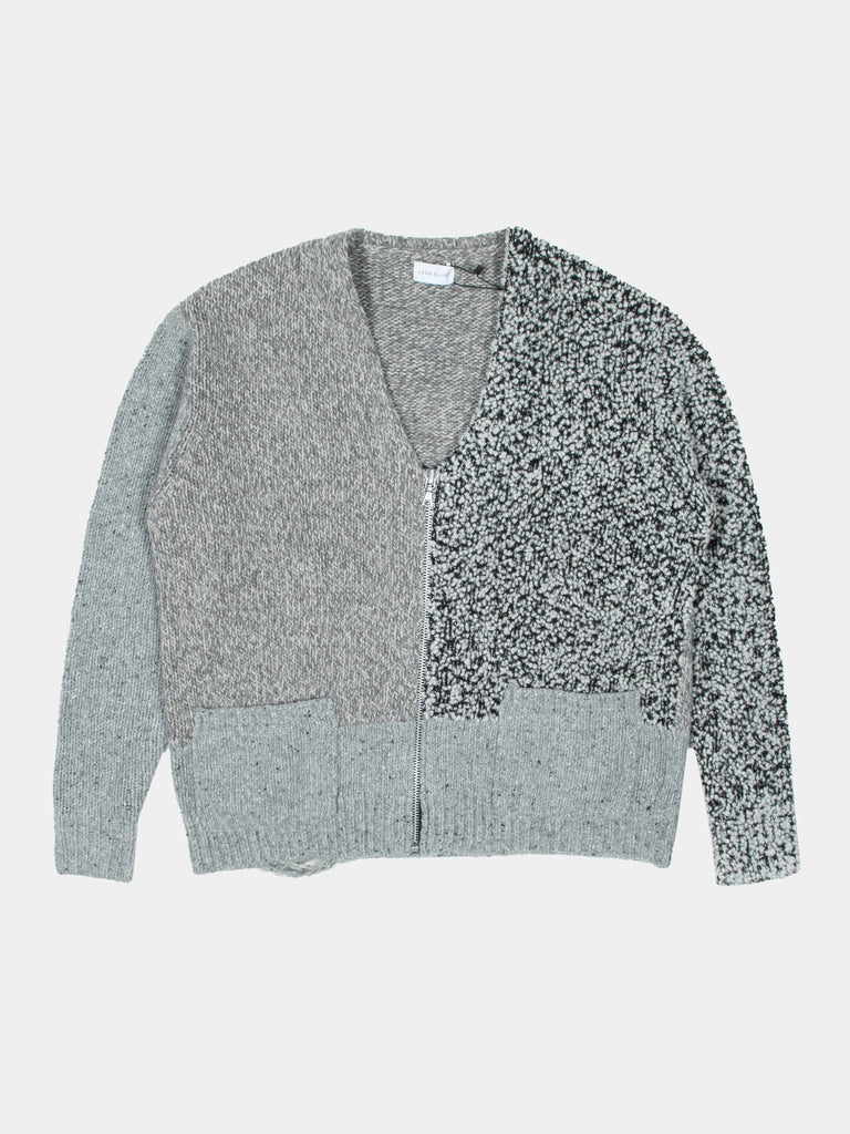 Mixed Cashmere Zip Cardigan