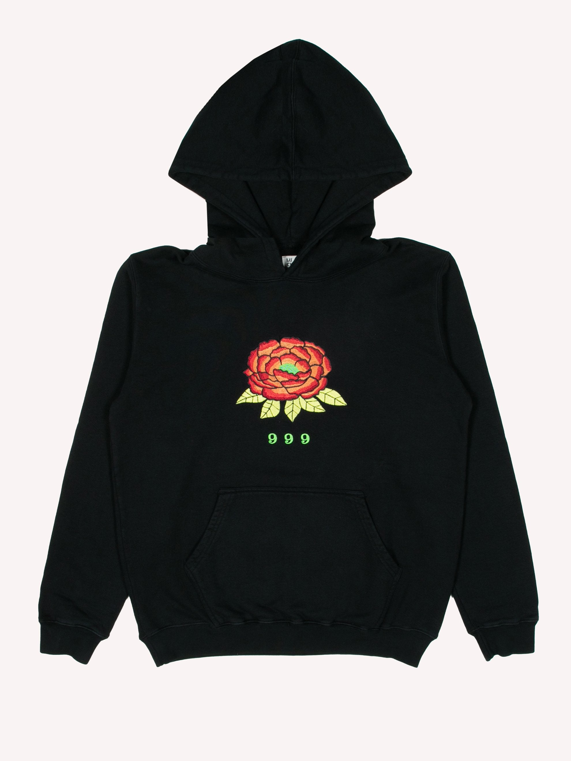 Black 999 Embrodered Hoody 1