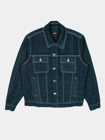 Check Denim Trucker Jacket