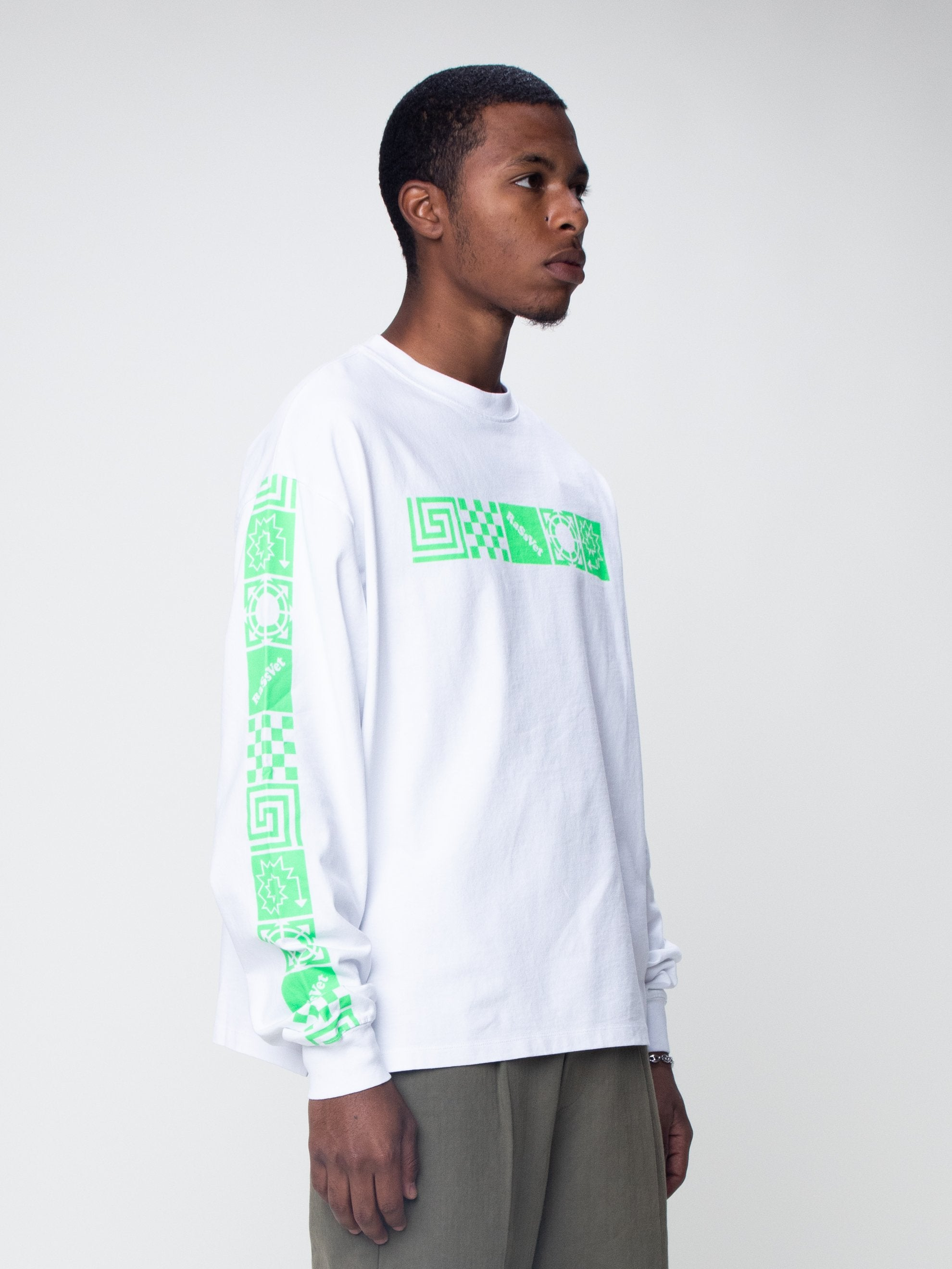 White Logo Long Sleeve T-Shirt 4