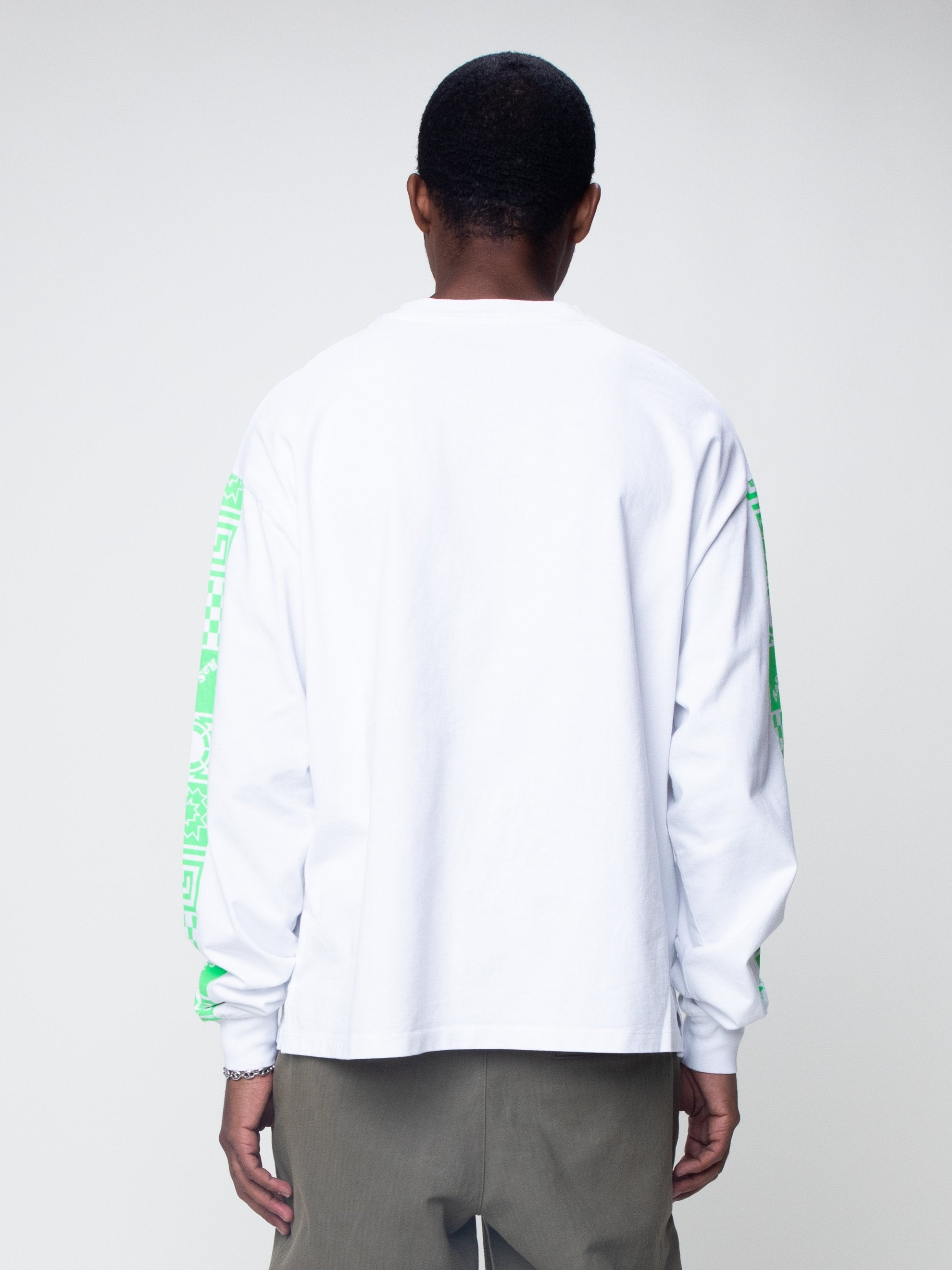 White Logo Long Sleeve T-Shirt 6