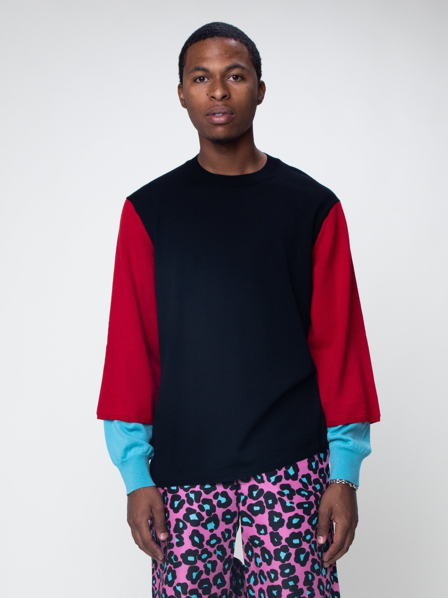 color-block-sleeve-sweater
