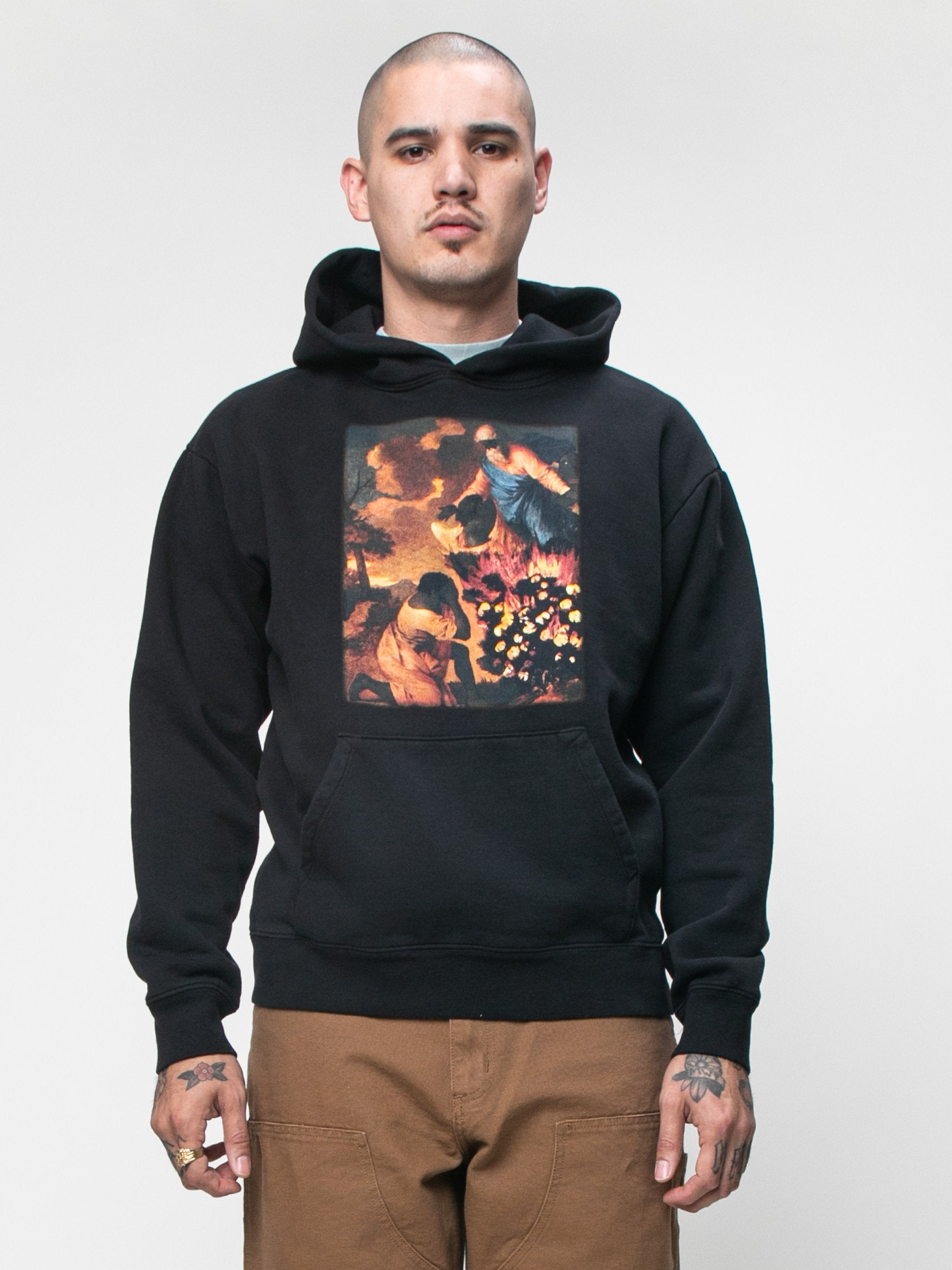 Black Denim Tears x Eco Graphic Hooded Sweatshirt 2