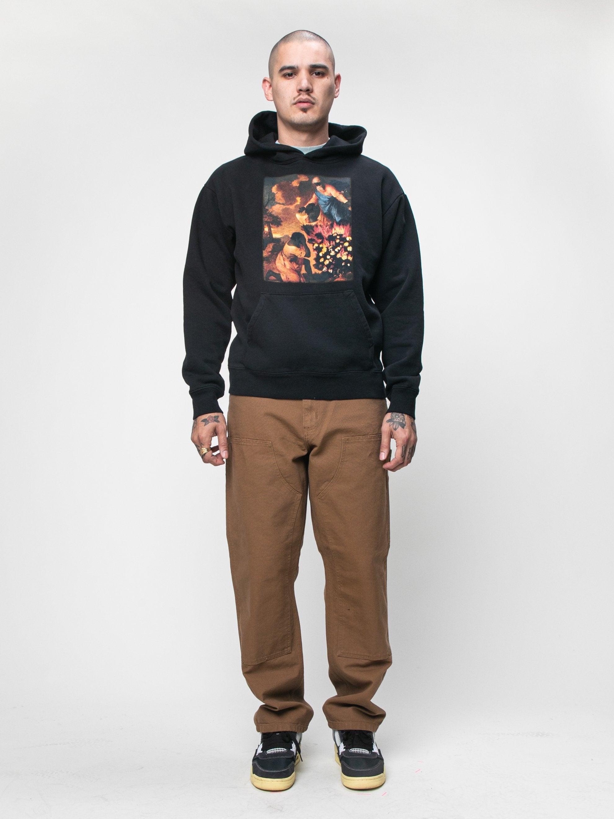 Black Denim Tears x Eco Graphic Hooded Sweatshirt 3