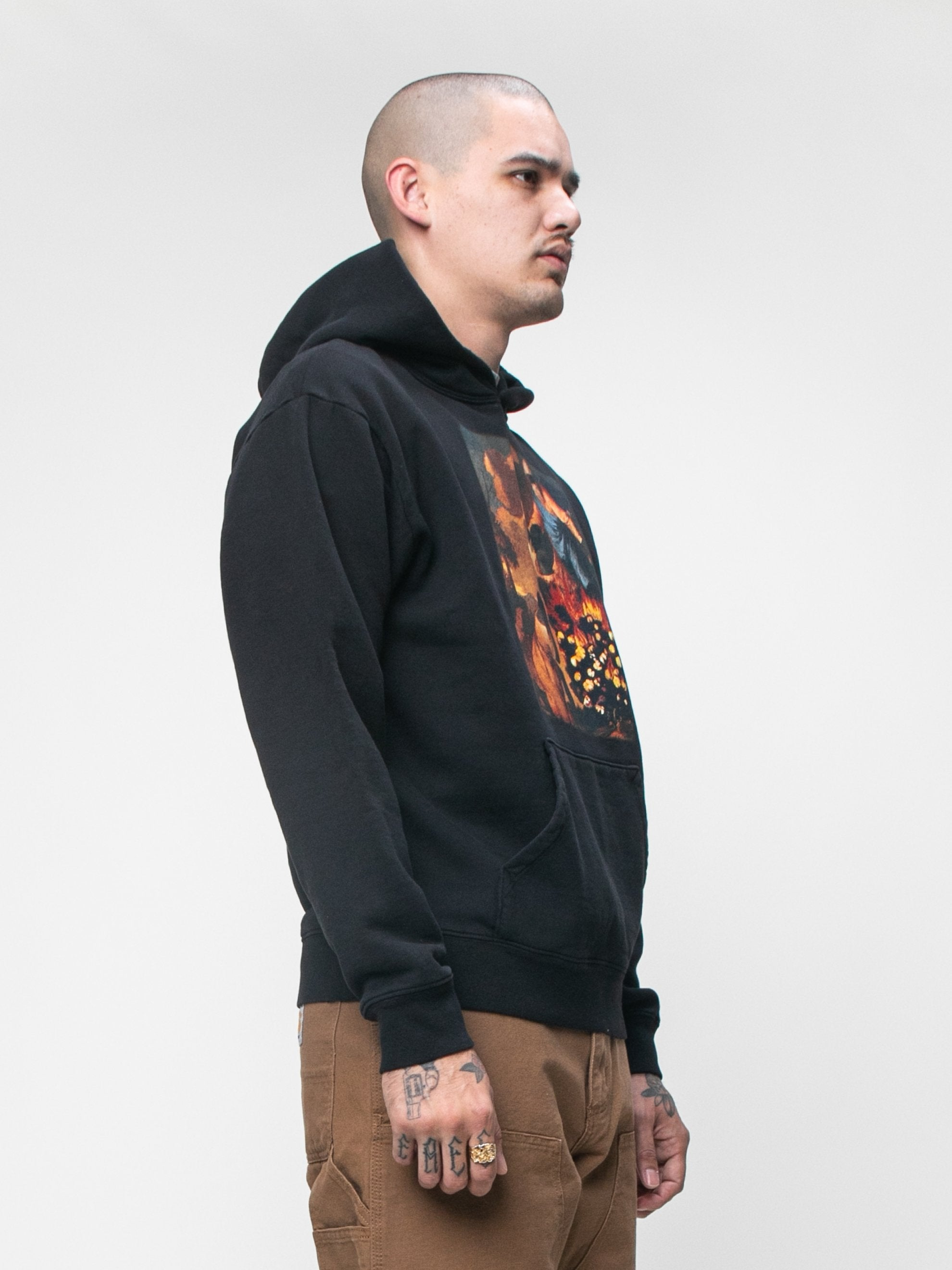 Black Denim Tears x Eco Graphic Hooded Sweatshirt 4